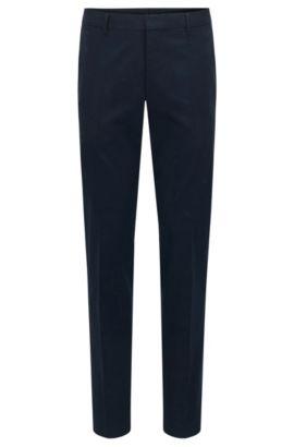 Pantalon Slim Fit en coton stretch, Bleu foncé