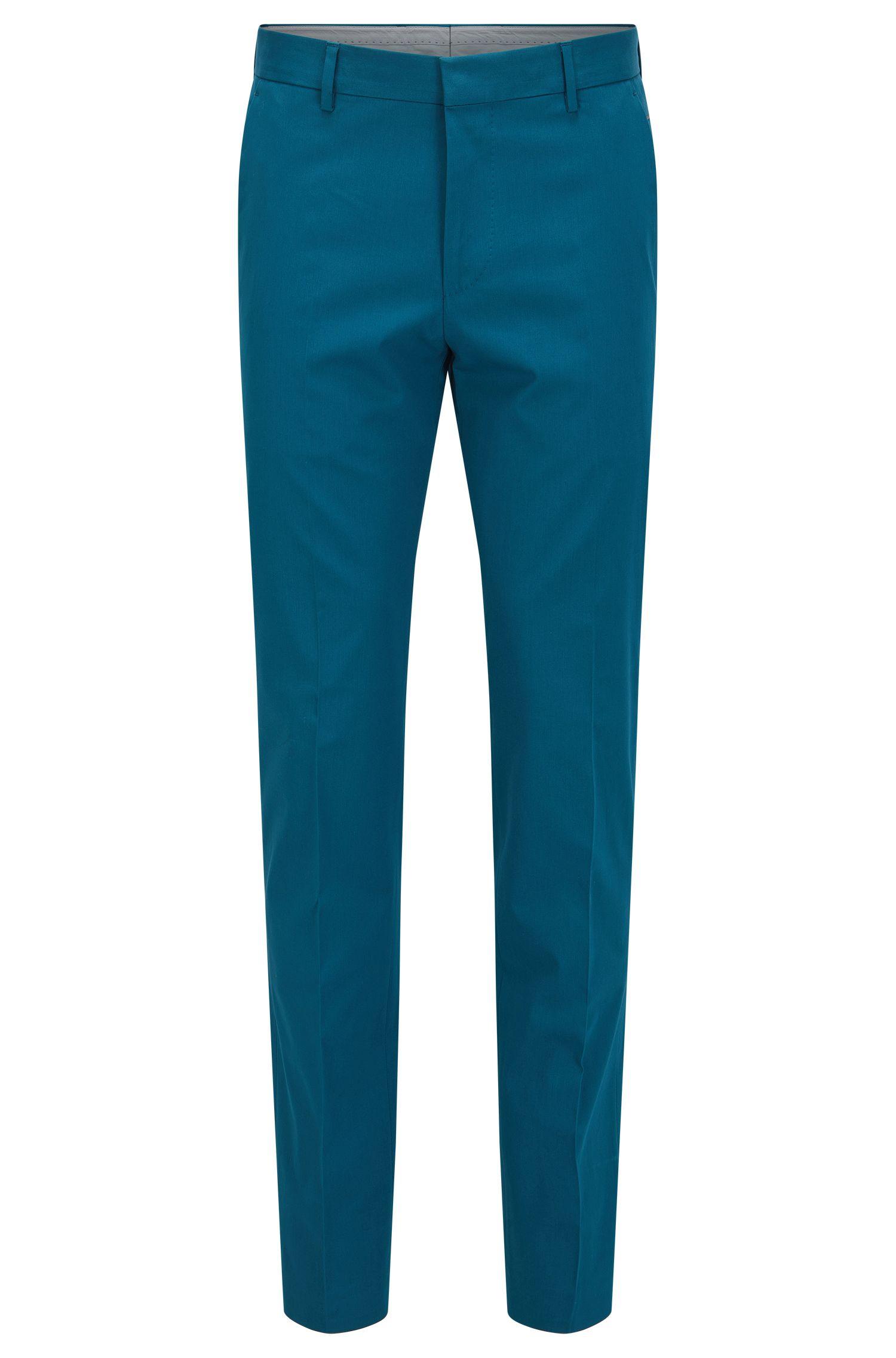 Pantalón slim fit en algodón elástico