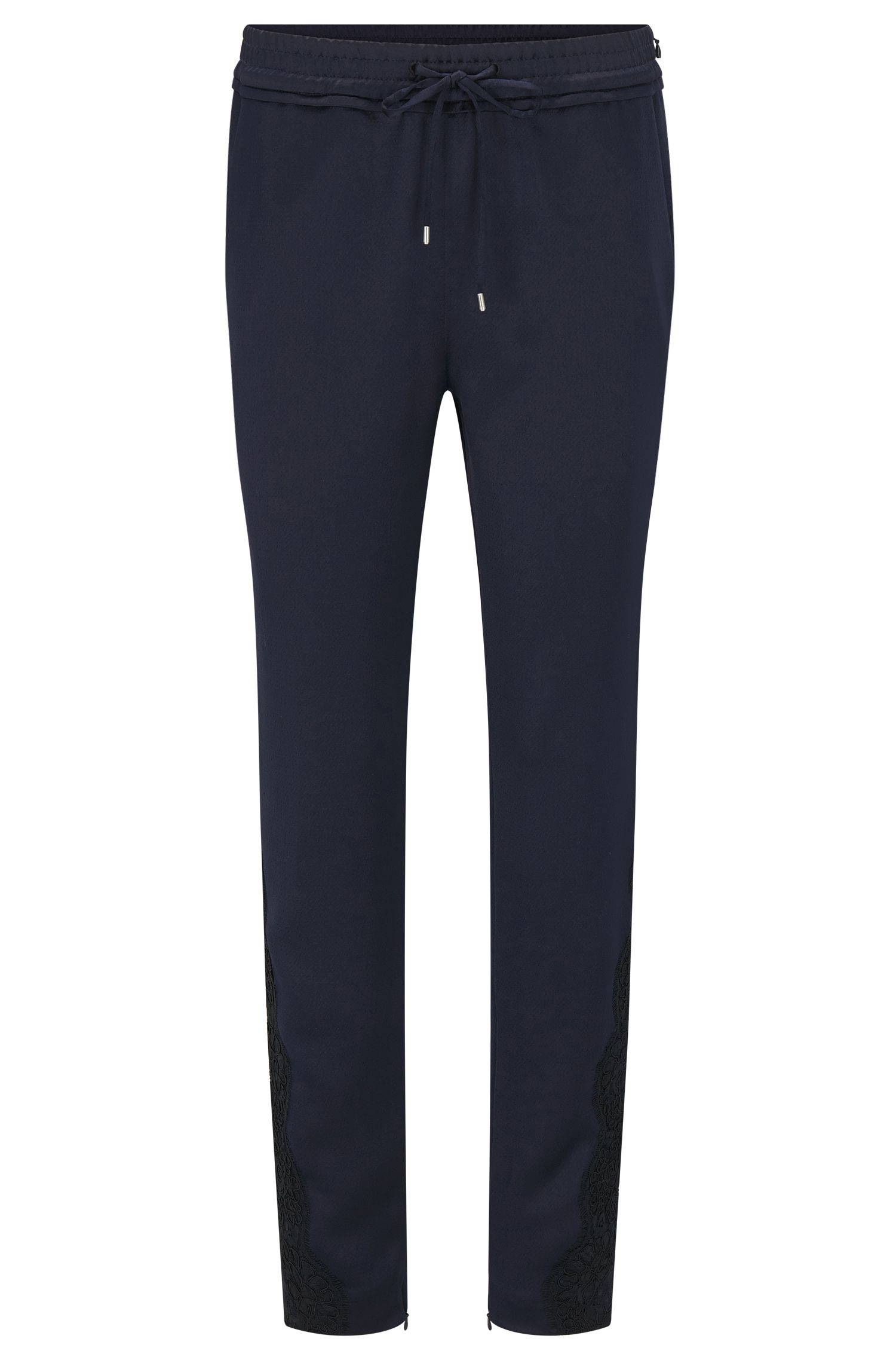Relaxed-fit jogging trousers with ruffle waistband
