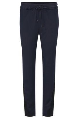 Pantalon Relaxed Fit façon pantalon molletonné avec ceinture froncée, Bleu foncé
