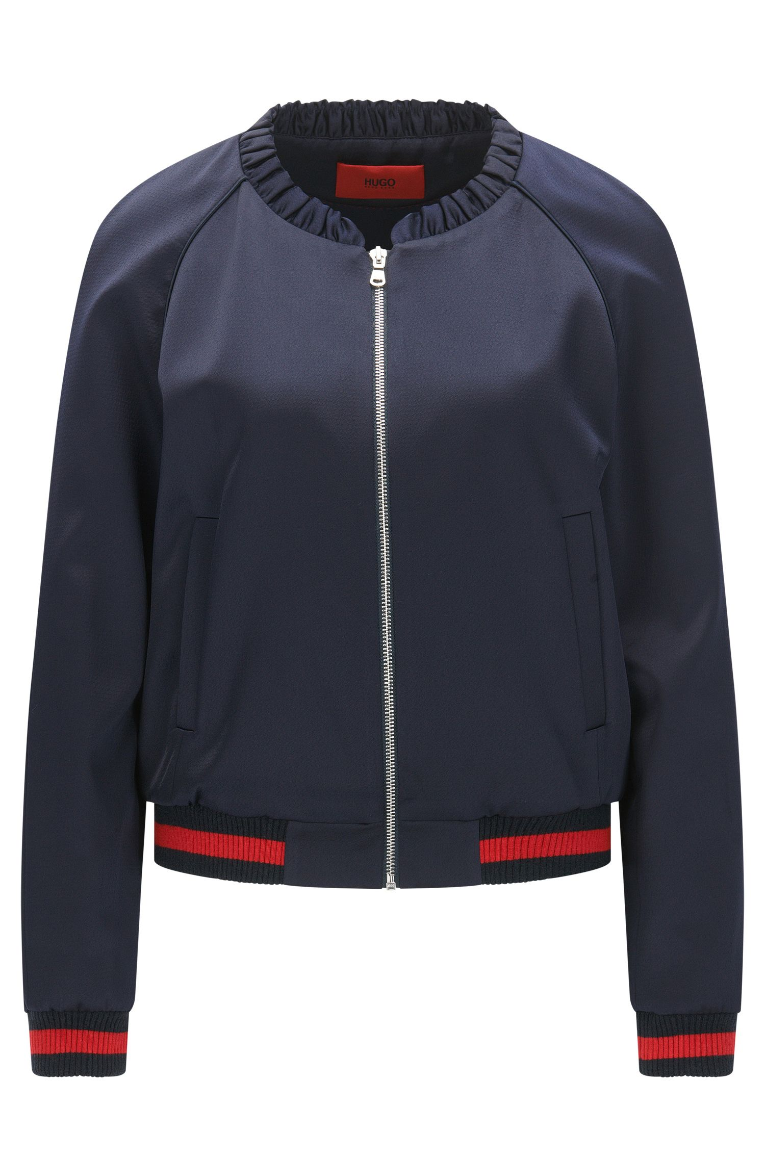 Relaxed-Fit Bomberjacke mit Statement-Stickerei