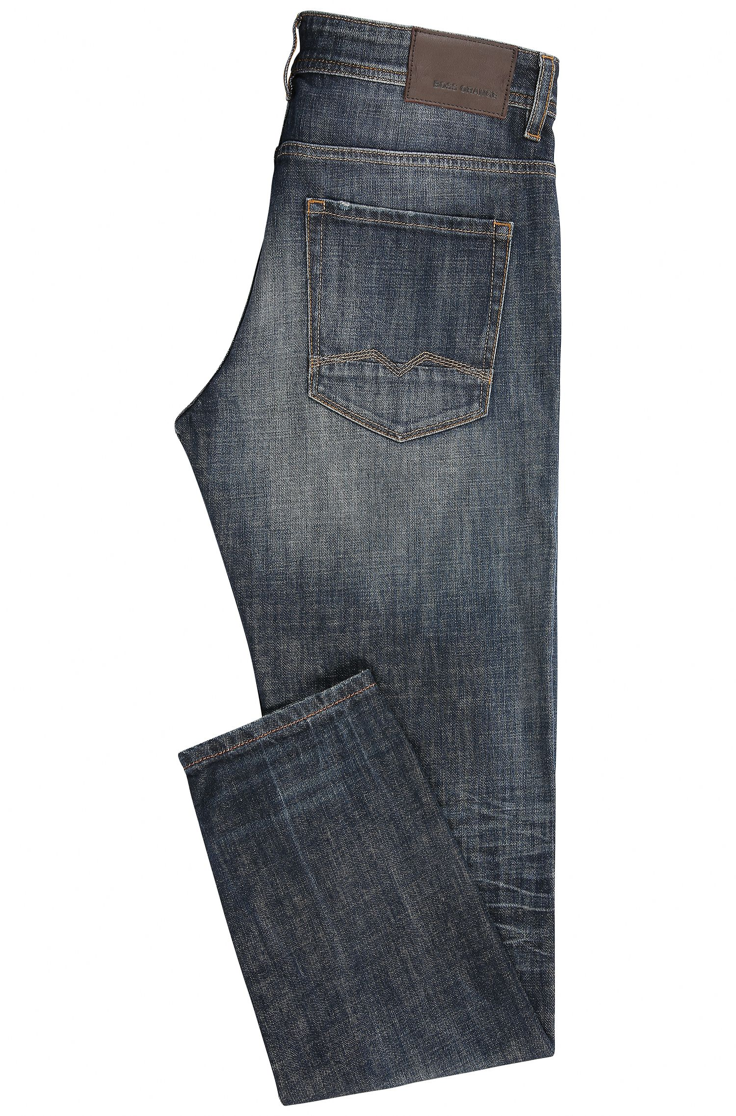 Tapered-fit jeans van compacte stretchdenim