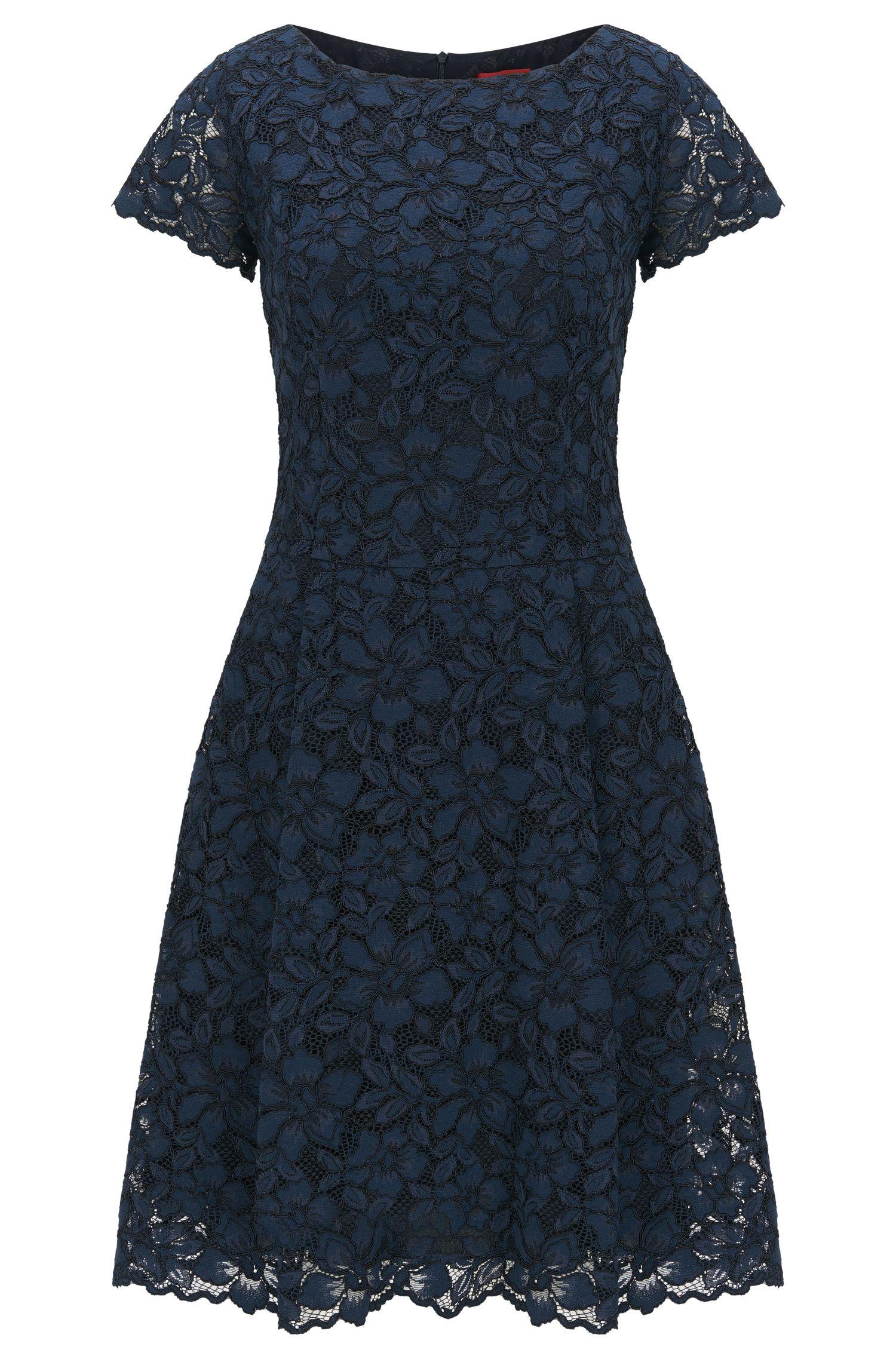 Regular-Fit Kleid aus Blumenspitze
