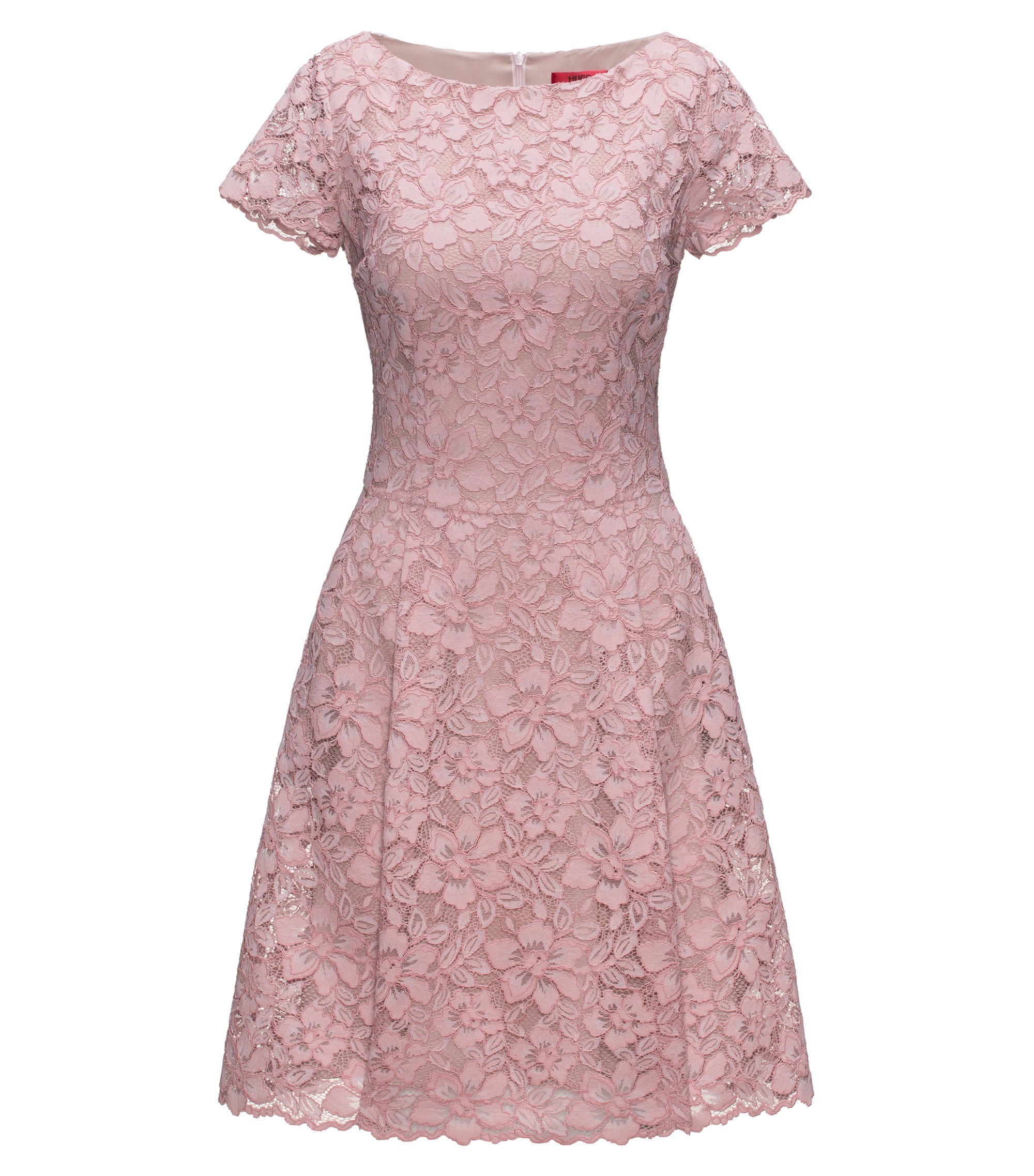 Regular-fit dress in floral lace, light pink