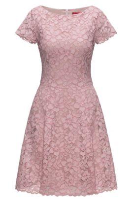 Regular-fit dress in floral lace, light pink