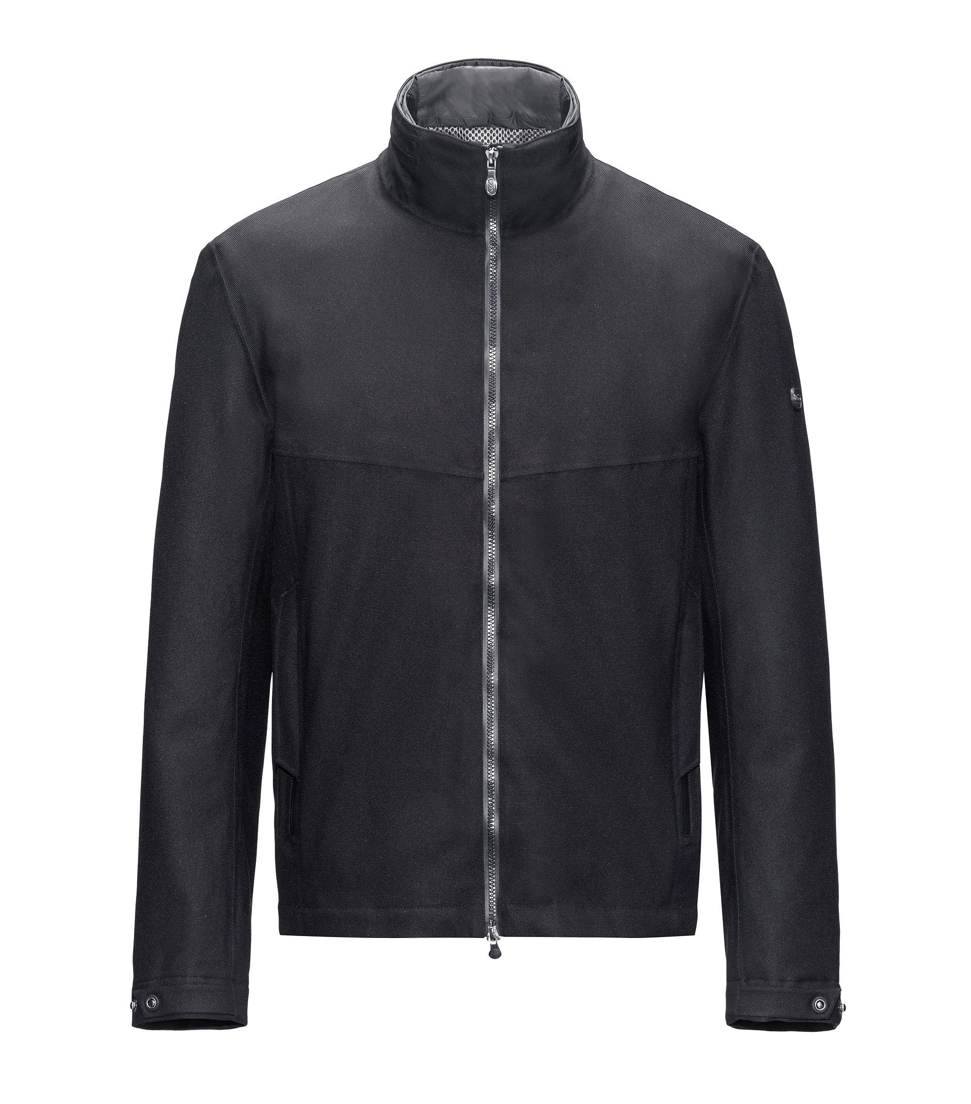 Technische regular-fit jas met geïntegreerde verwarming, Zwart