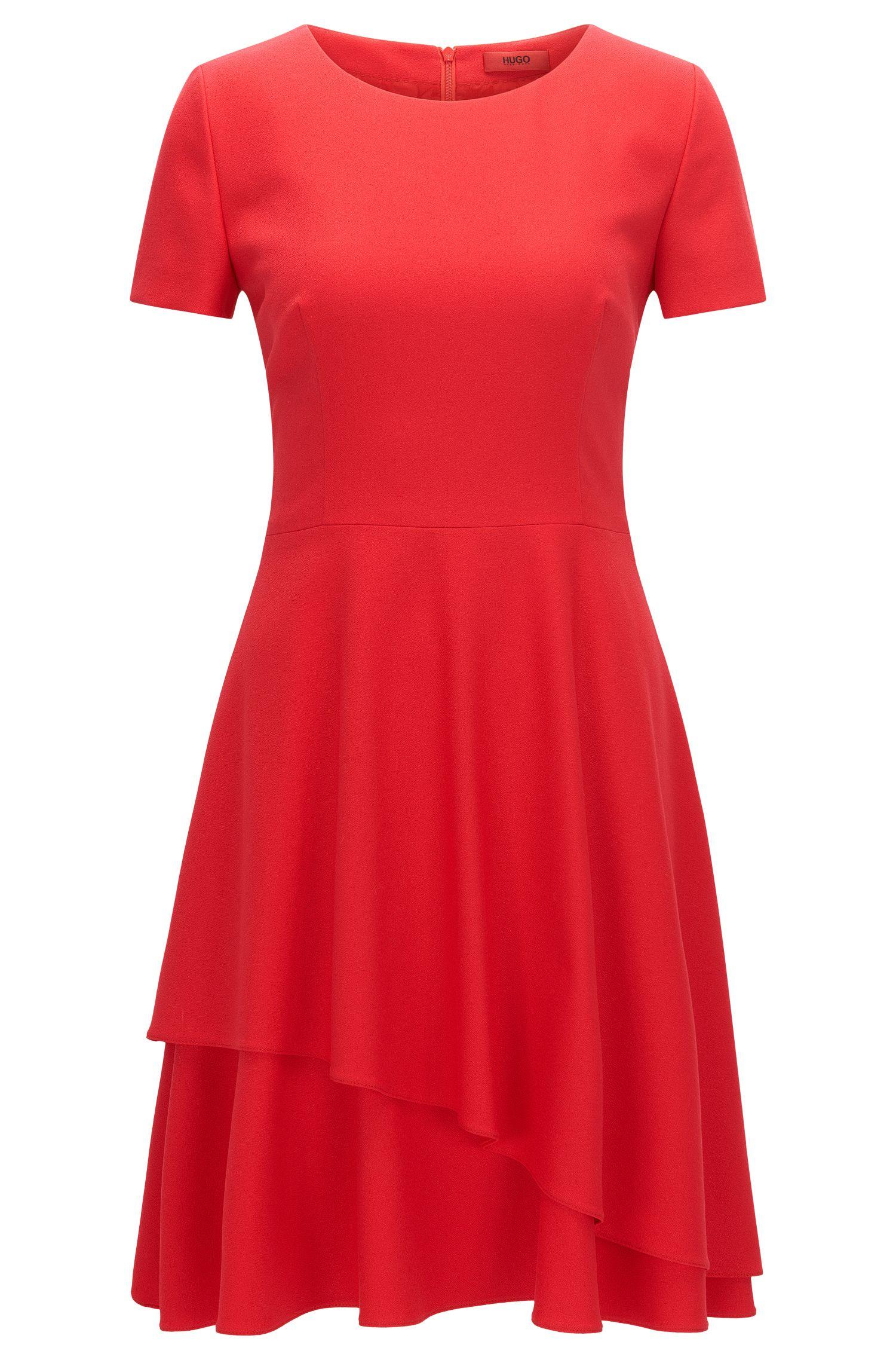 Regular-fit jurk van soepelvallende crêpe
