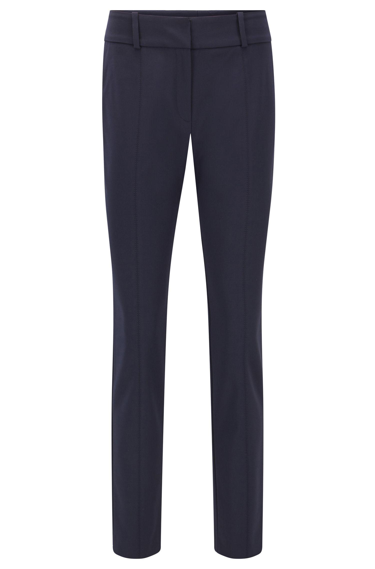 Pantalon Slim Fit infroissable en coton mélangé