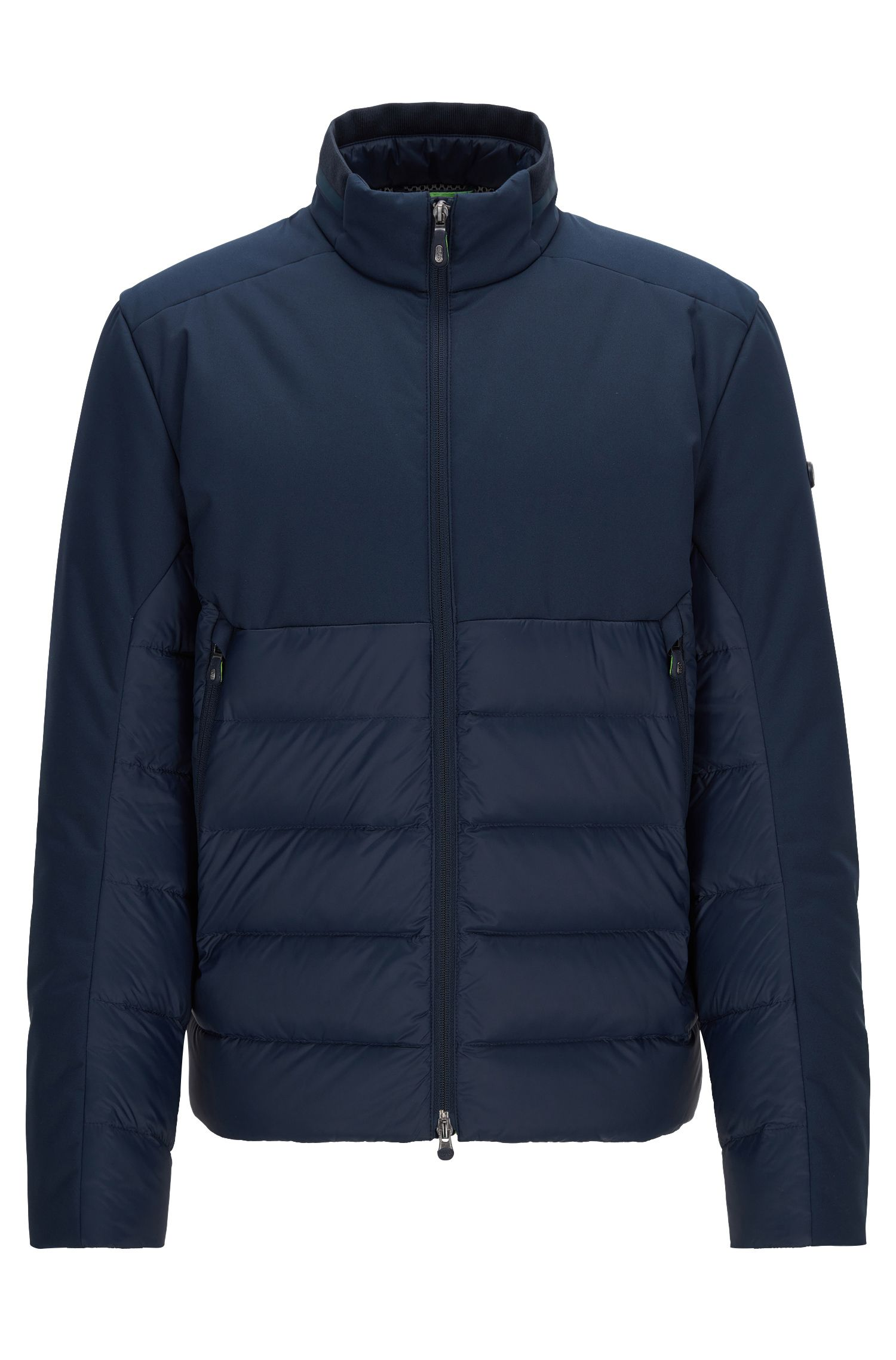 Regular-fit premium-down jacket with water-repellent finish