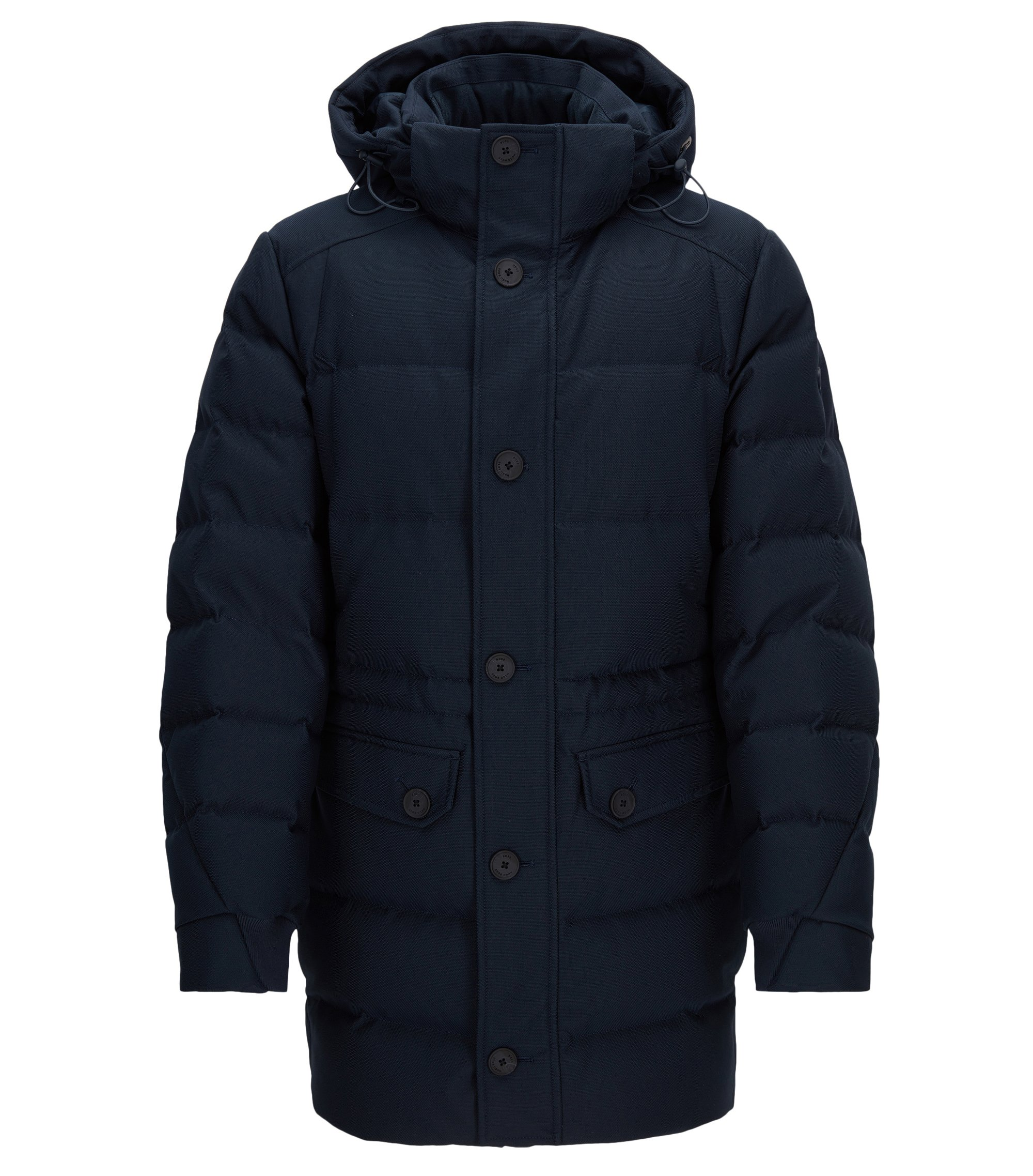 Regular-fit jacket in technical fabric, Dark Blue