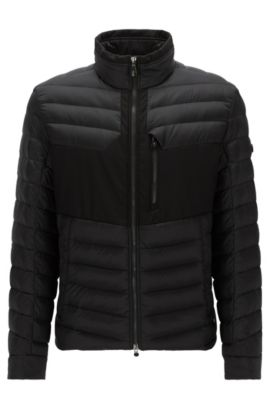 Manteau Regular Fit imperméable, Noir