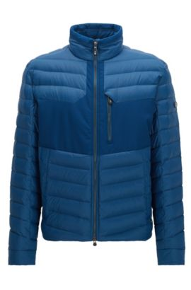 Water-repellent coat in a regular fit, Blue