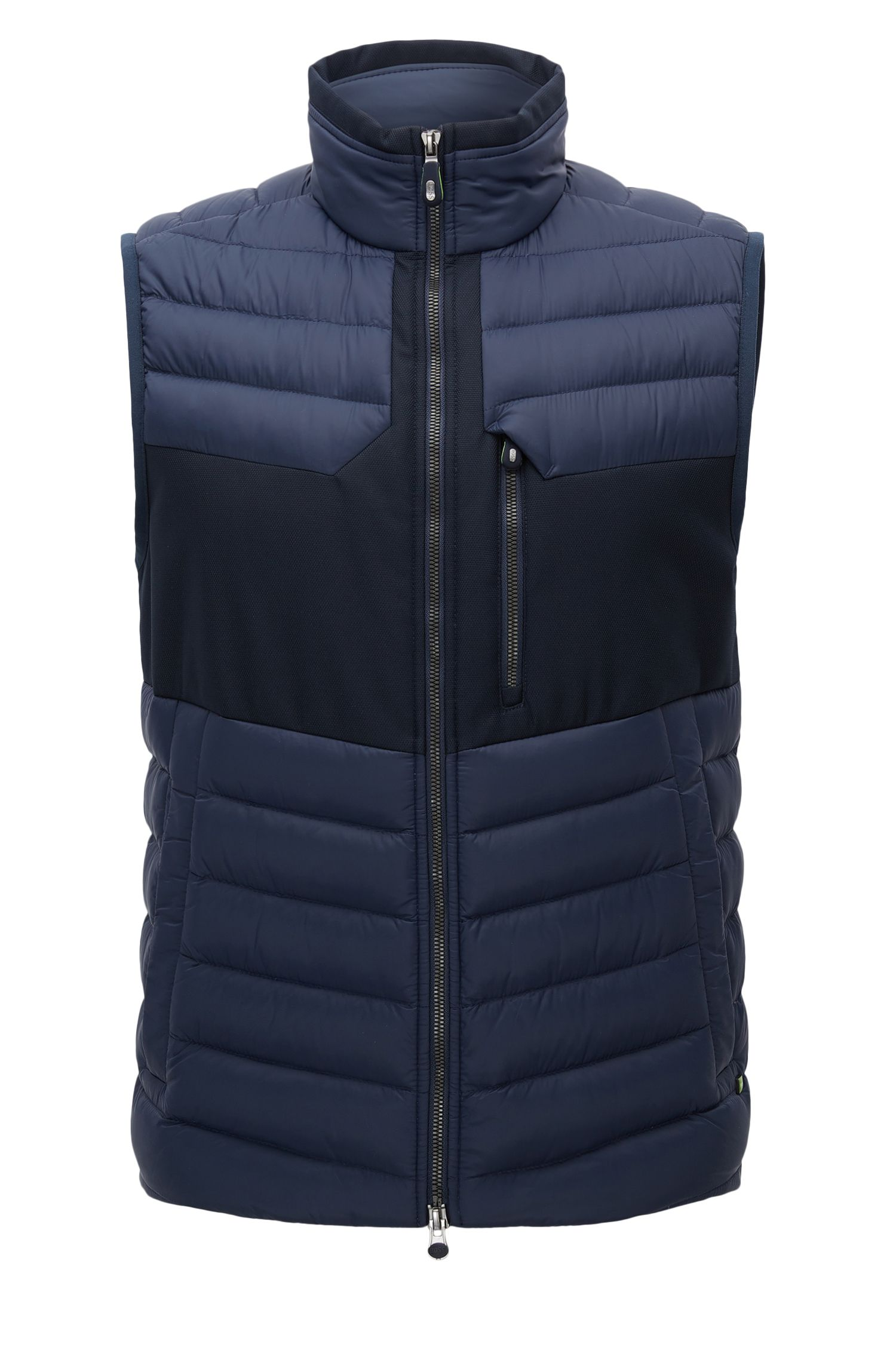 Gilet regular fit in taffetà idrorepellente