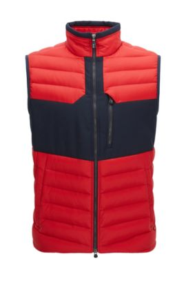 Gilet Regular Fit en taffetas imperméable, Rouge