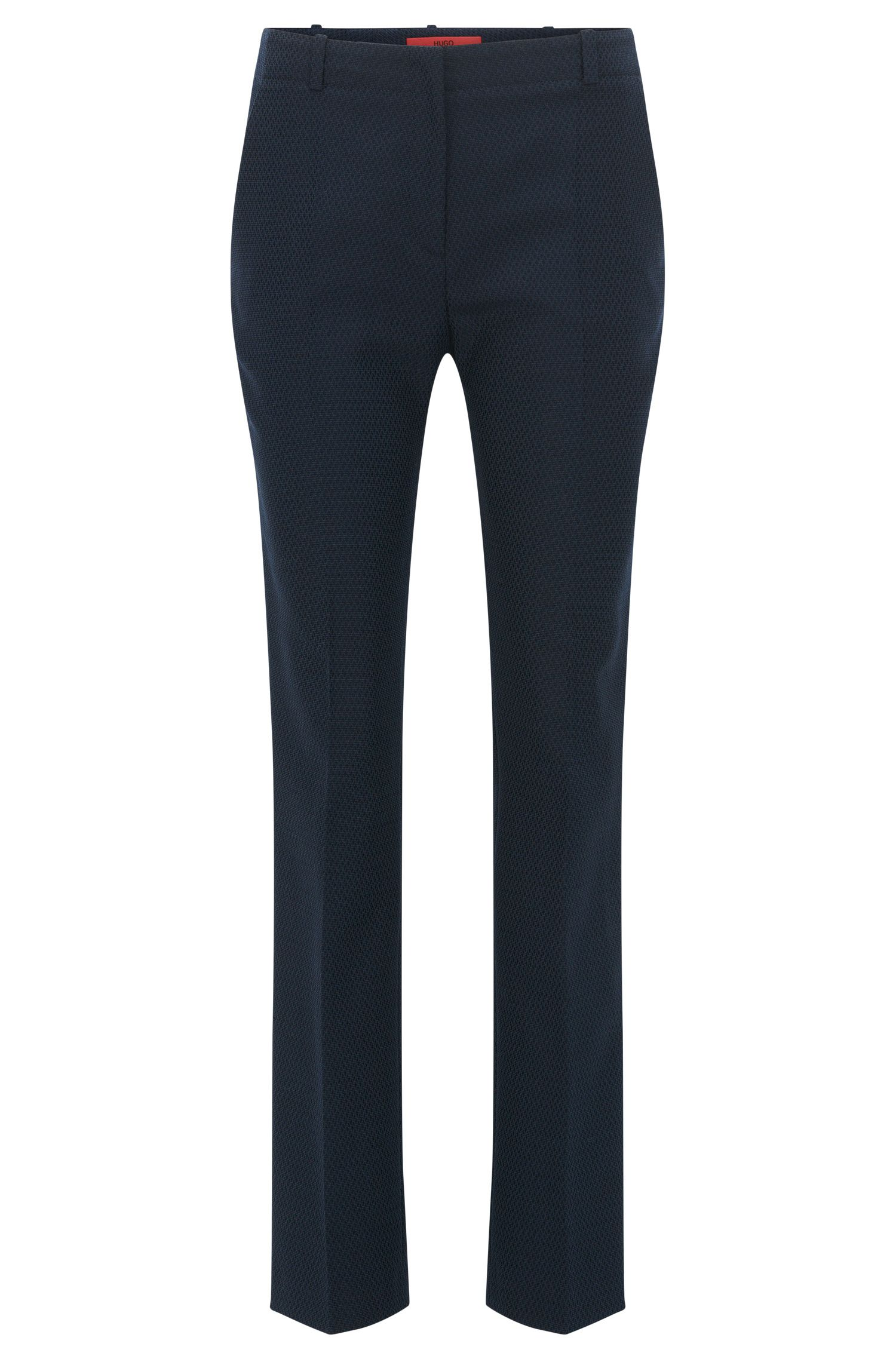 Regular-fit trousers in a cotton-wool blend