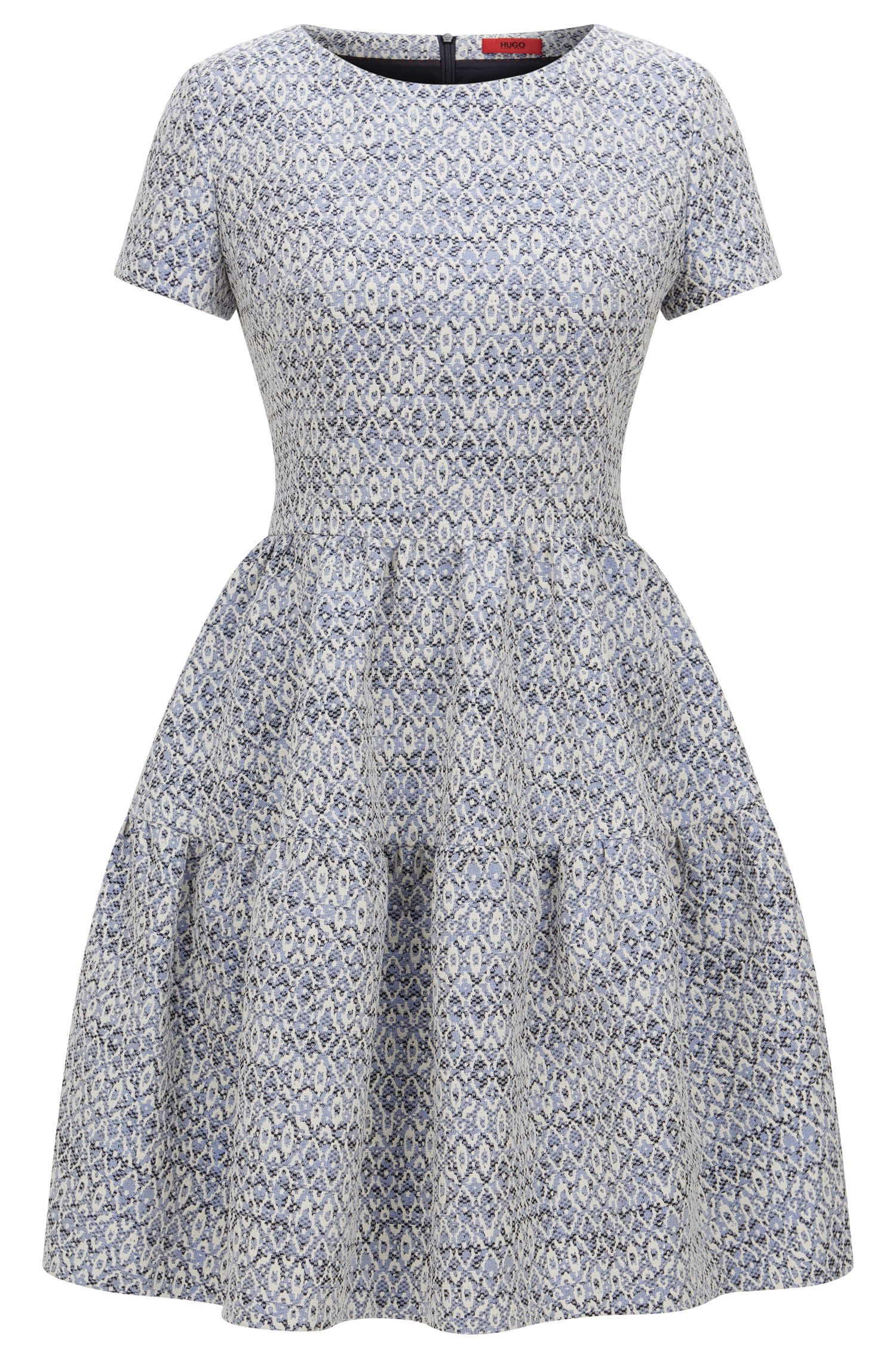 Regular-Fit Jacquard-Kleid mit abstraktem Muster