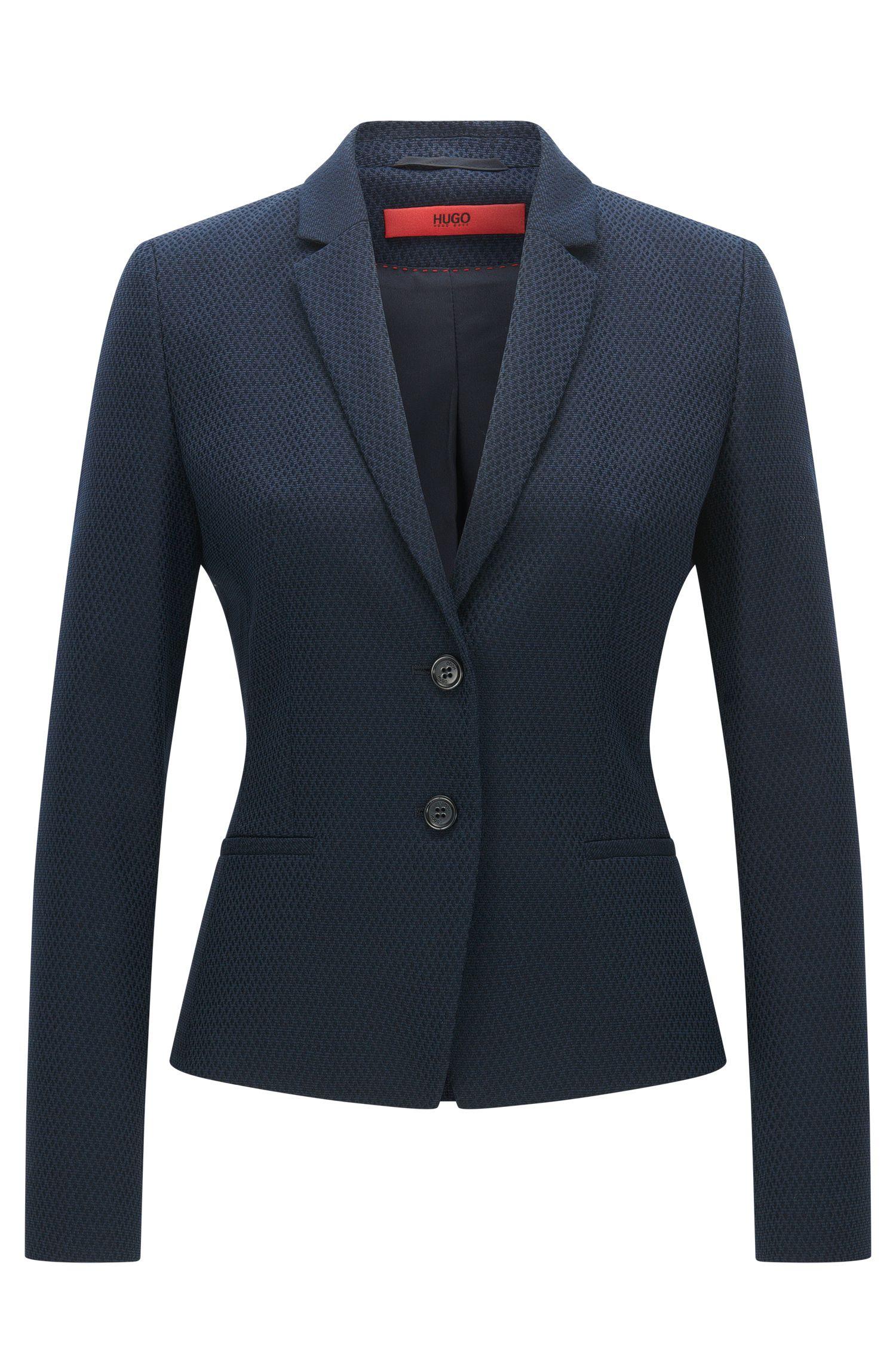 Veste Regular Fit en coton mélangé à de la laine