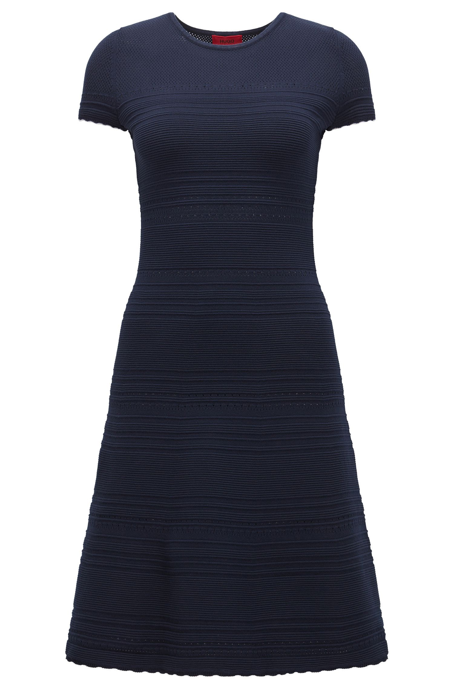 Robe en maille Slim Fit à base festonnée
