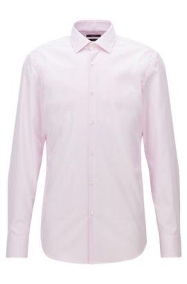 Chemise Slim Fit à fines rayures en coton facile à repasser, Rose clair