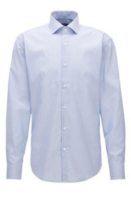 Chemise en coton Regular Fit à carreaux fins, Bleu