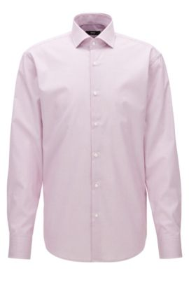 Chemise en coton Regular Fit à carreaux fins, Rouge