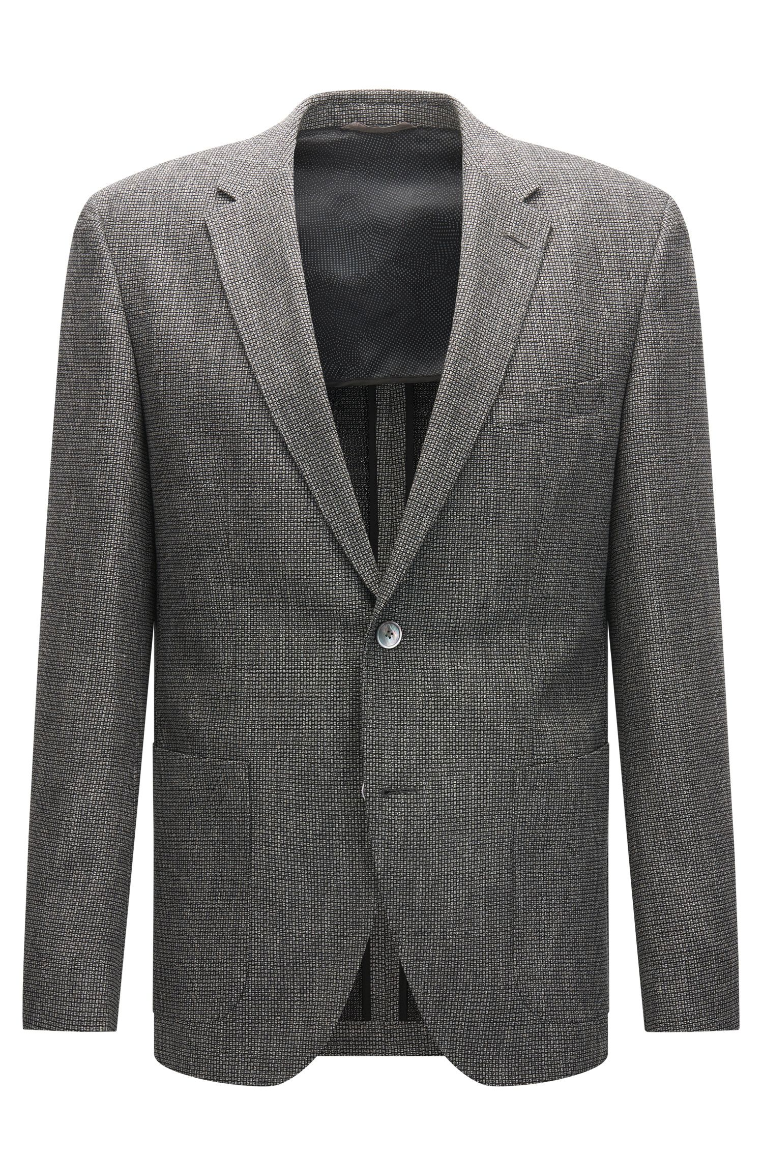 Regular-fit jacket in a two-tone woven structure