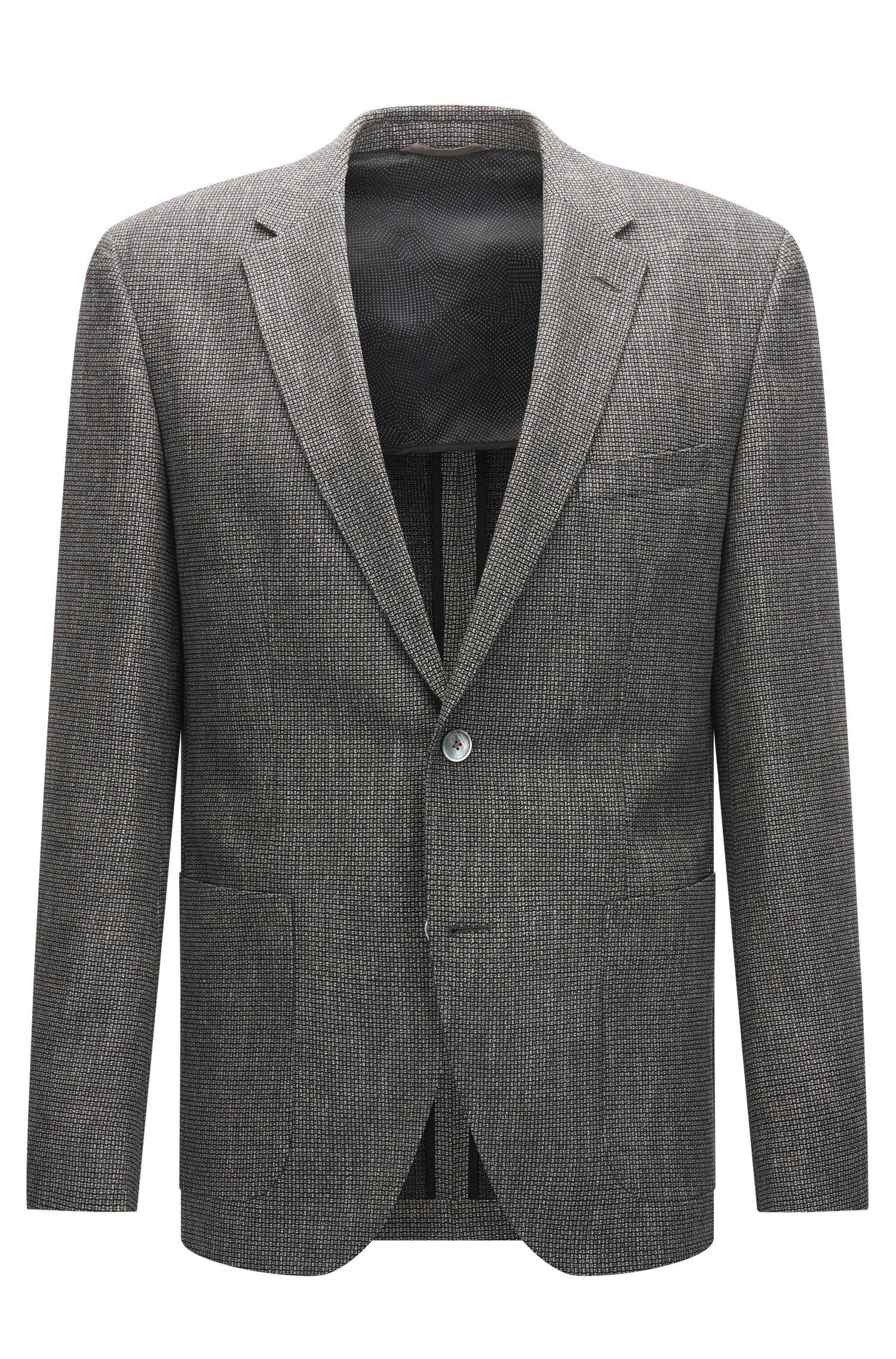 Veste Regular Fit en tissu structuré bicolore