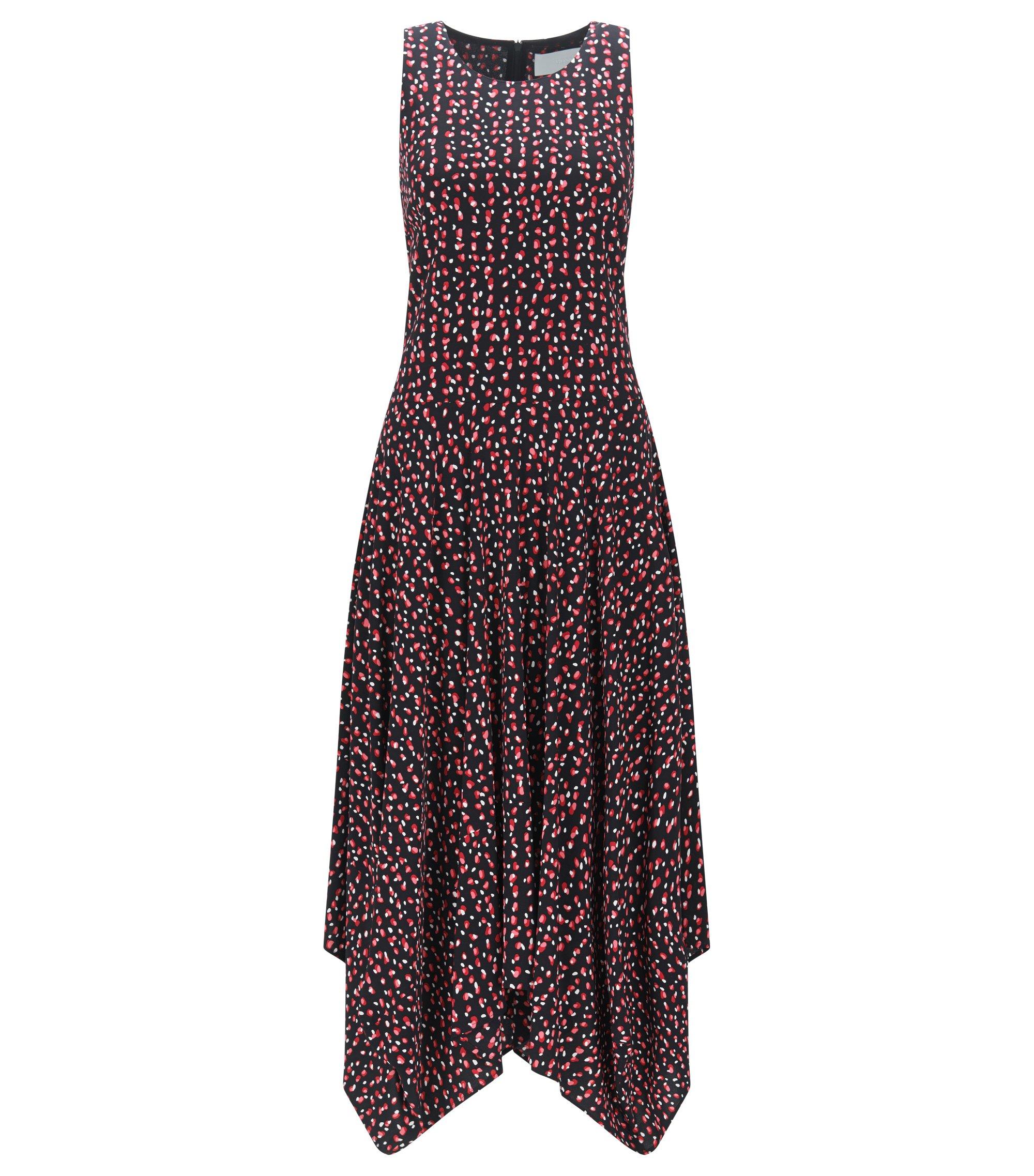 Relaxed-Fit Kleid aus softem Crêpe-Gewebe mit Print, Gemustert