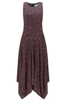 Relaxed-fit printed dress in soft crêpe, Patterned