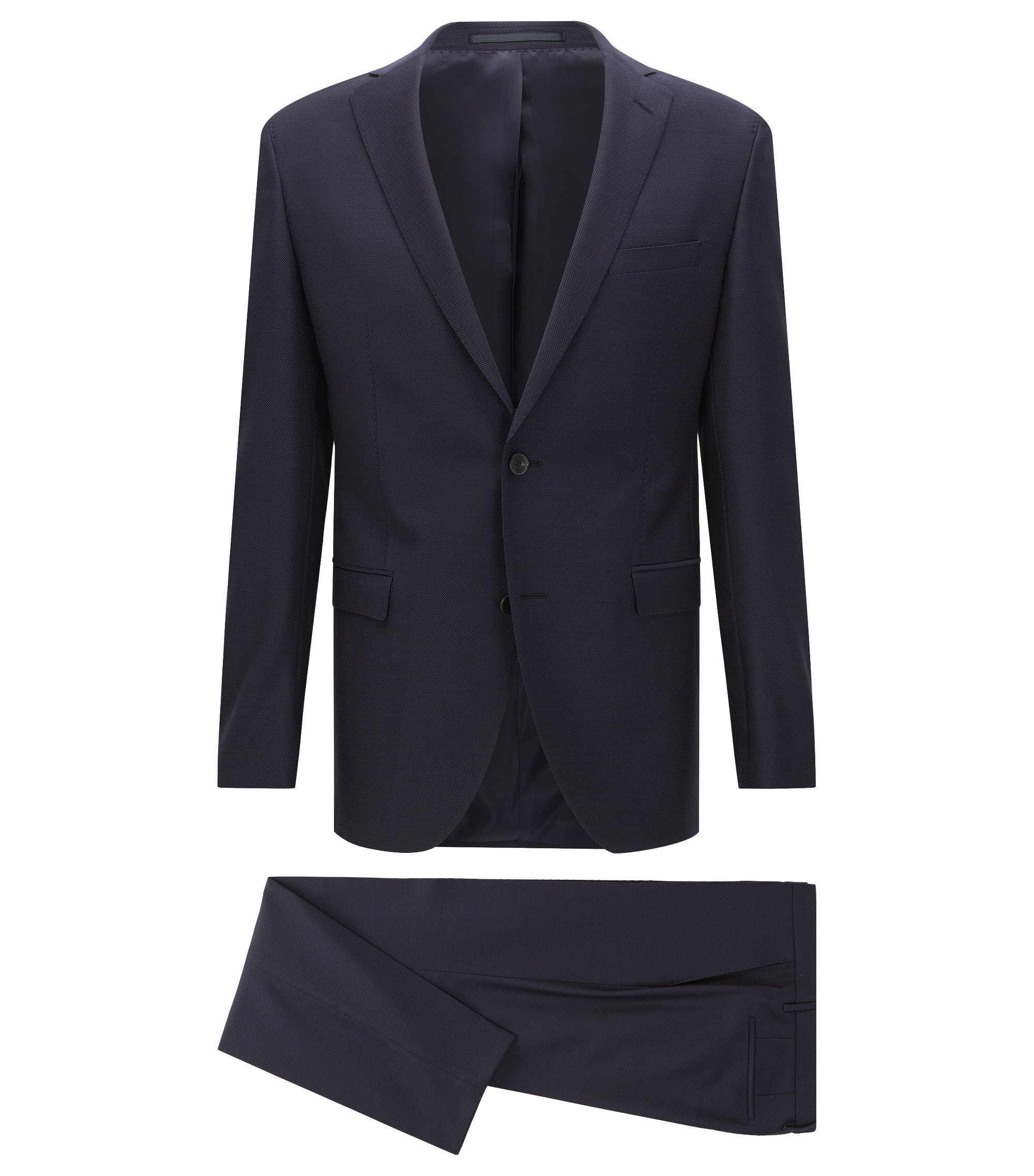 Costume Extra Slim Fit en laine vierge, Bleu foncé