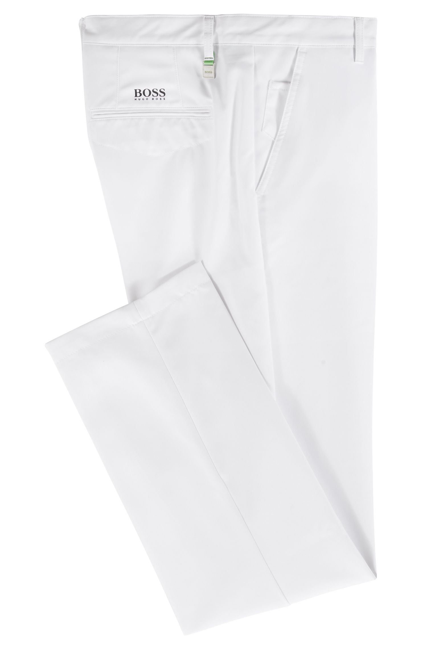 Pantalon de golf Slim Fit en twill technique, Blanc