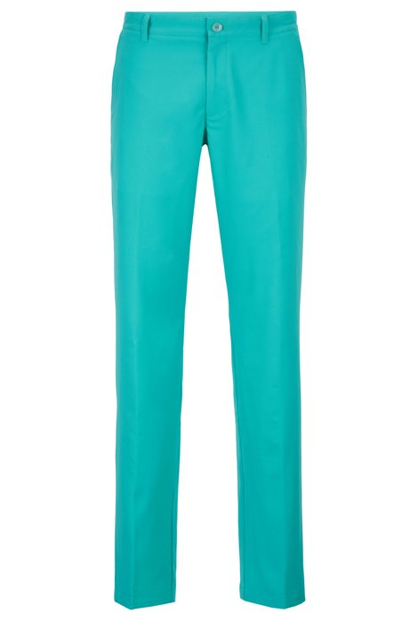 Slim-fit golfbroek in technisch twill, Kalk