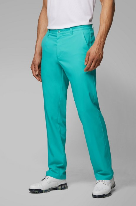 Pantalon de golf Slim Fit en twill technique, Chaux