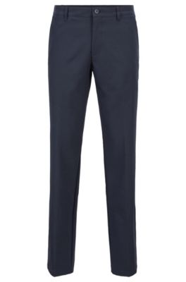 Pantalon de golf Slim Fit en twill technique, Bleu foncé