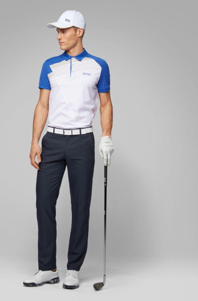 Pantaloni da golf slim fit in twill tecnico