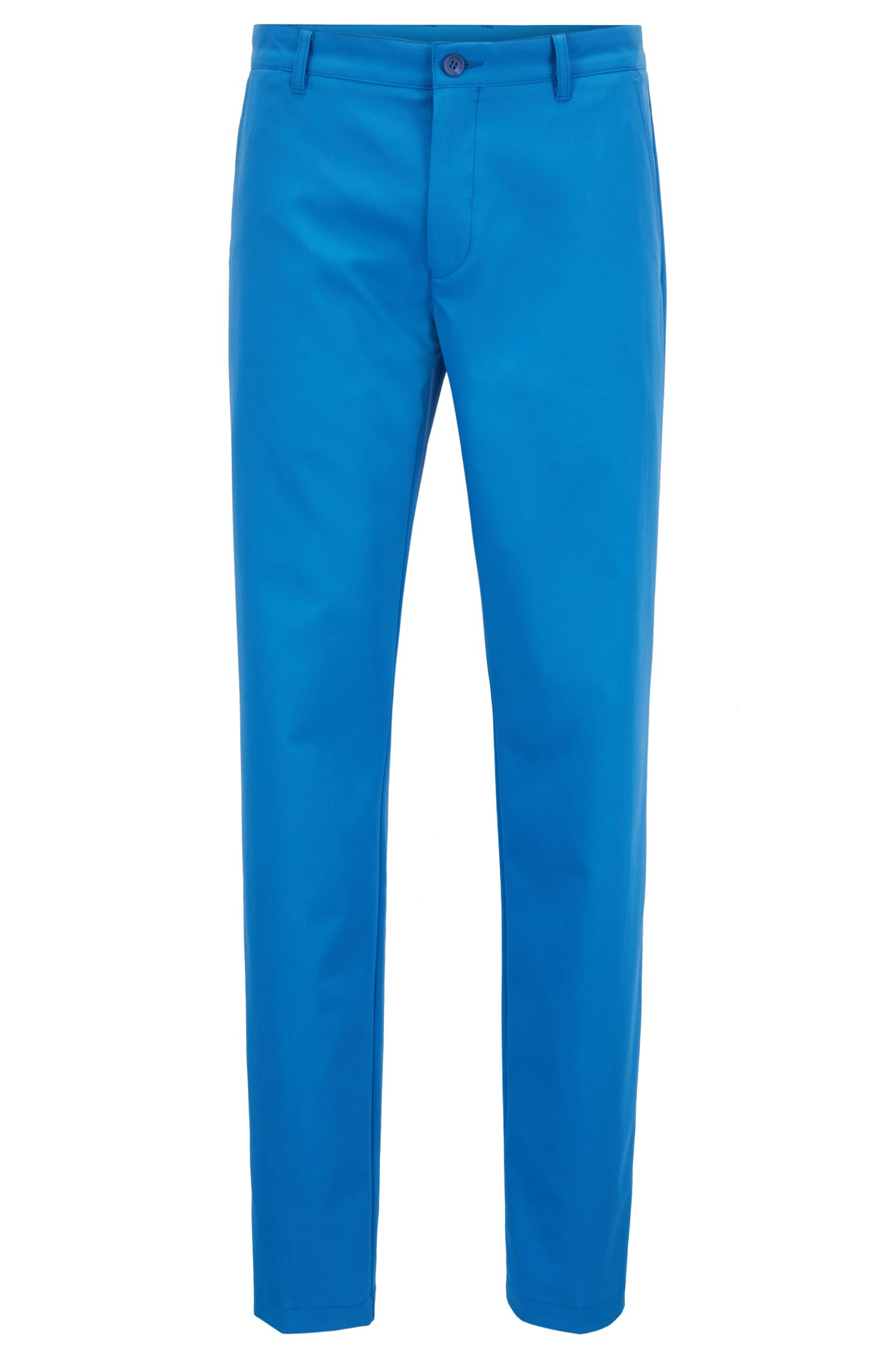Pantalon de golf Slim Fit en twill technique, Bleu
