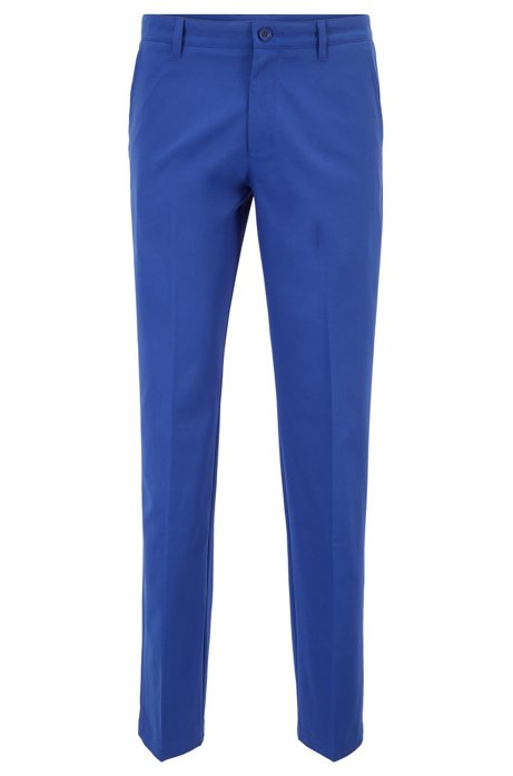 Pantalón slim fit de golf en sarga técnica, Azul