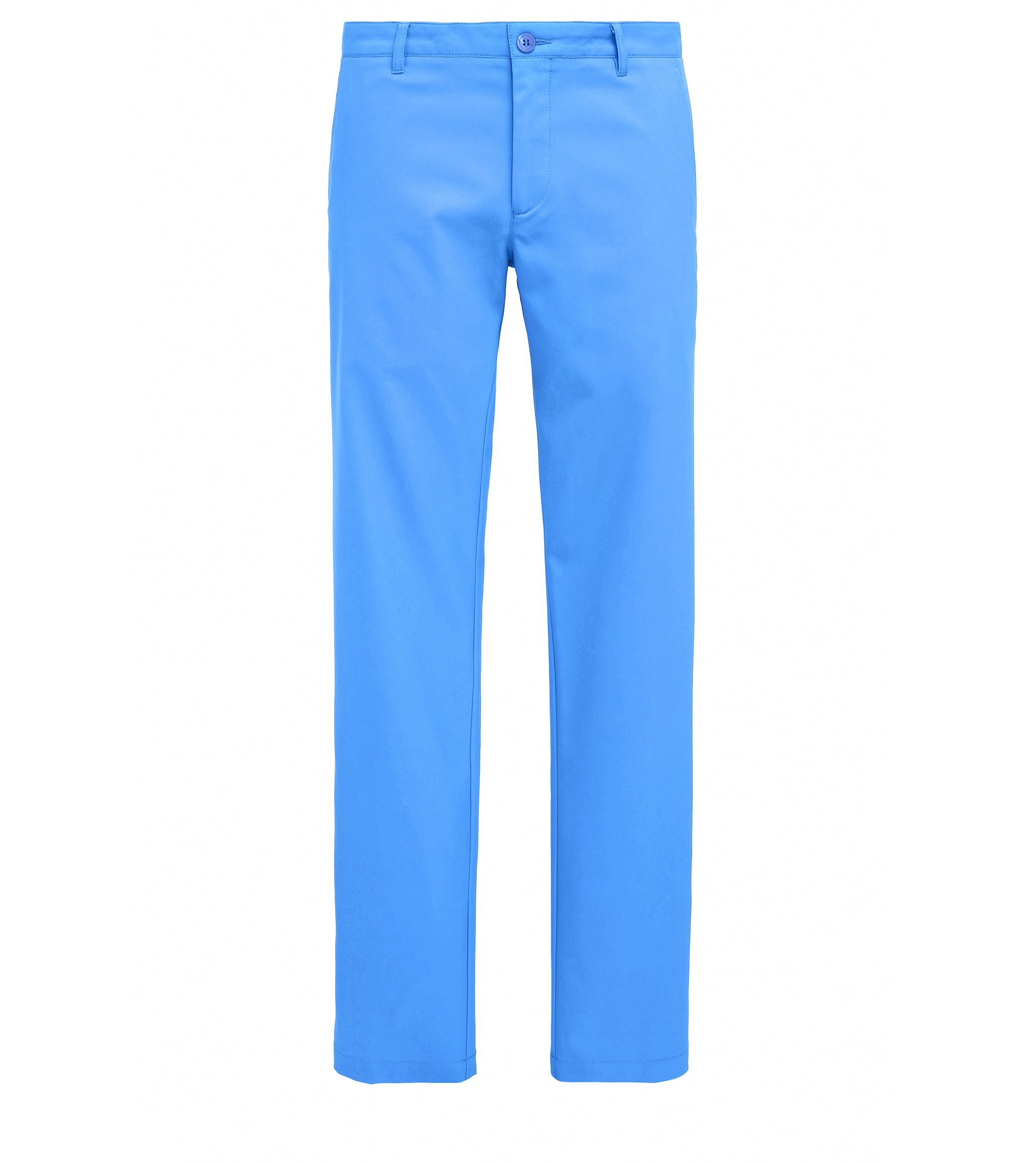Pantaloni da golf slim fit in twill tecnico, Blu