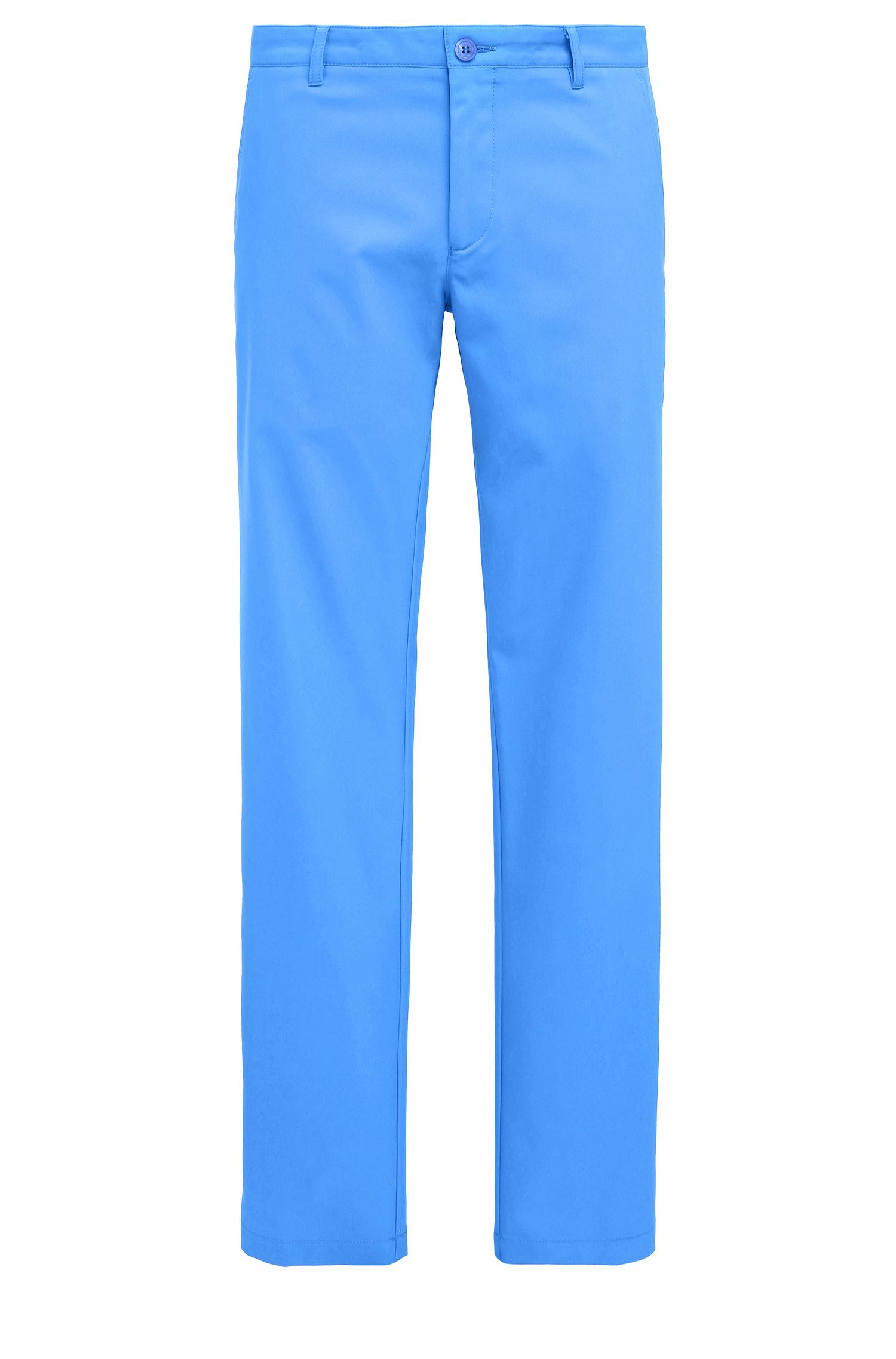 Slim-fit golf trousers in technical twill