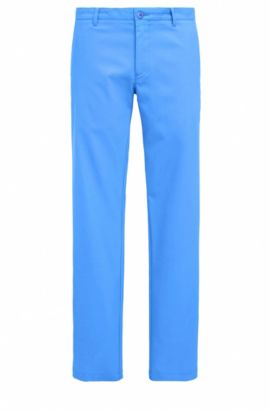 Slim-fit golfbroek in technisch twill, Blauw