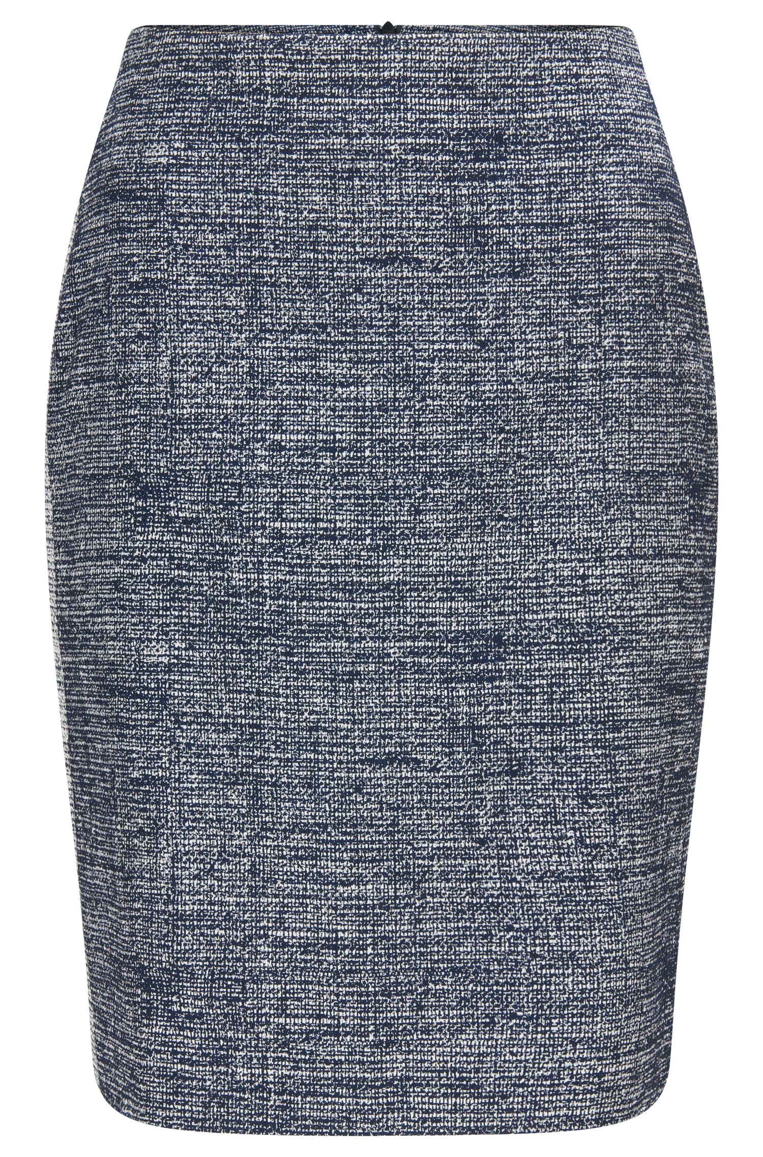 Jupe crayon Regular Fit en coton mélangé
