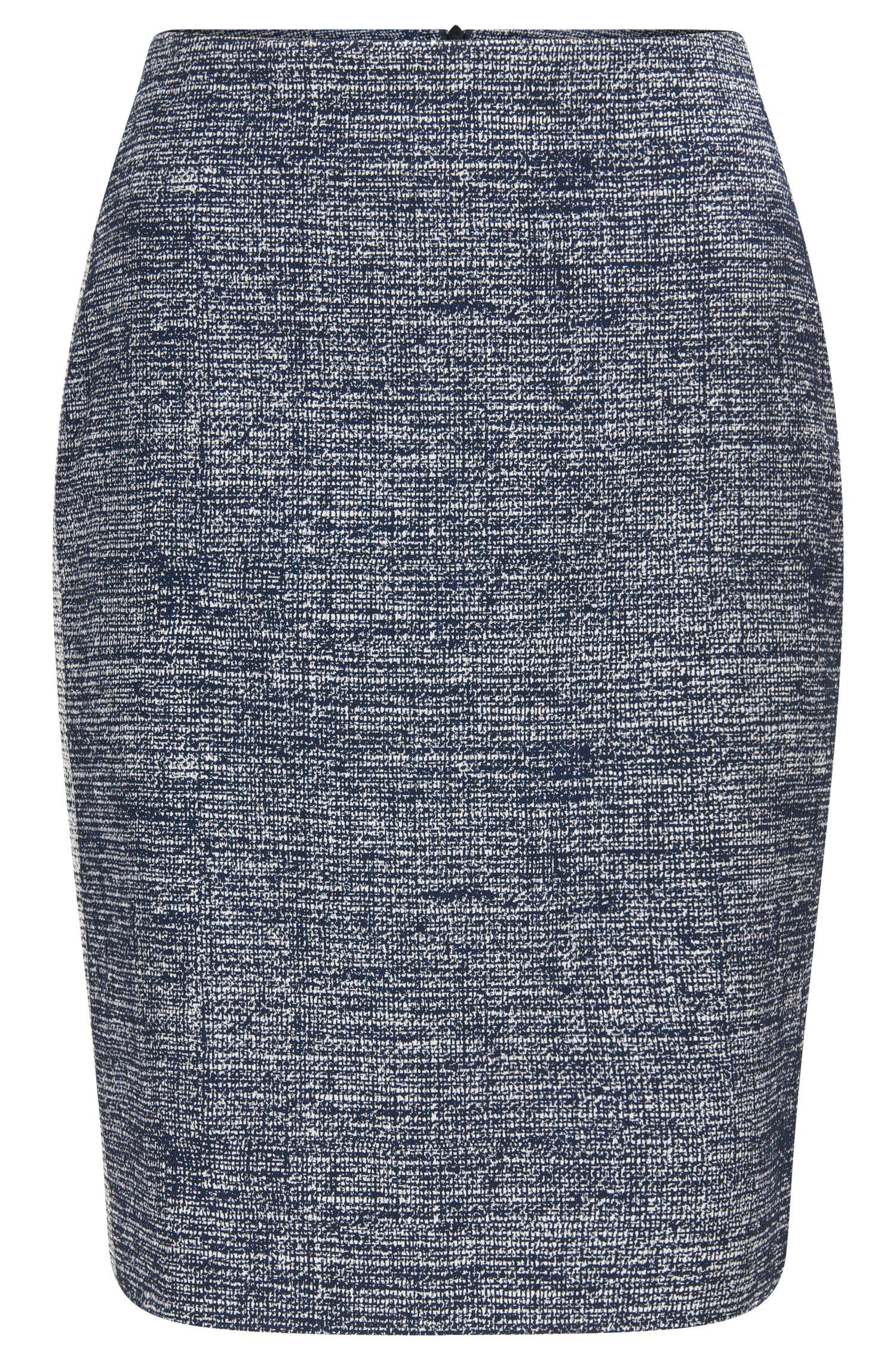 Regular-Fit Bleistiftrock aus elastischem Baumwoll-Mix
