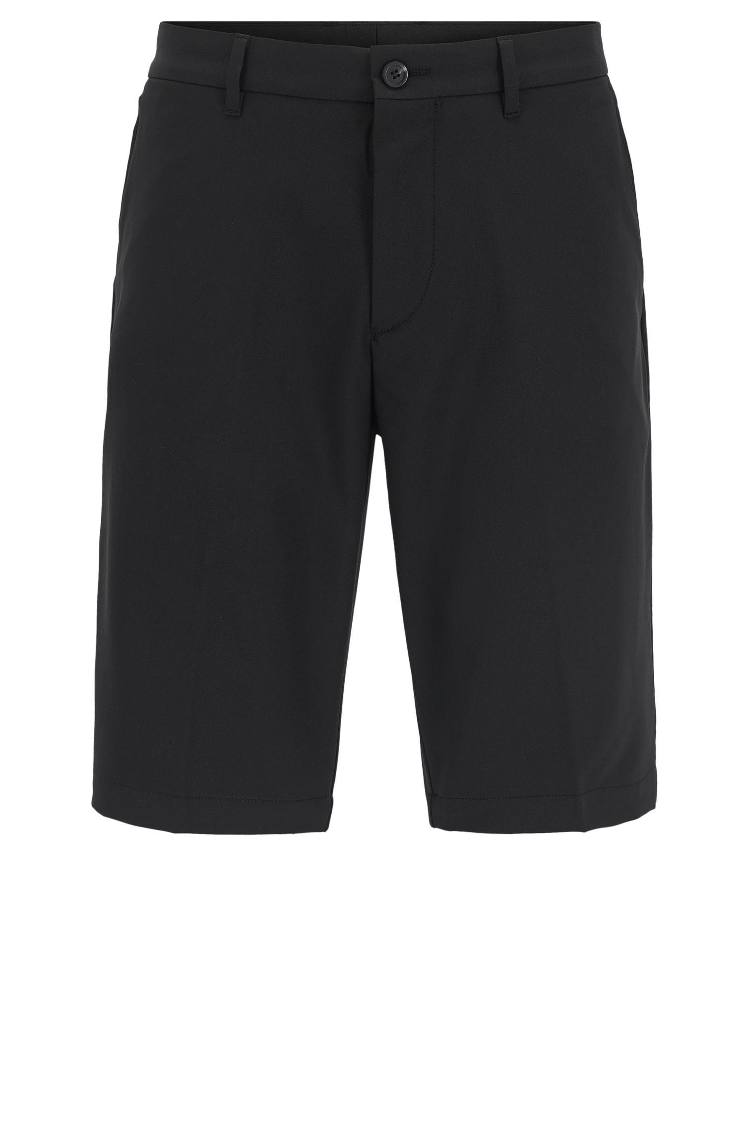 Pantaloncini corti da golf regular fit in twill tecnico