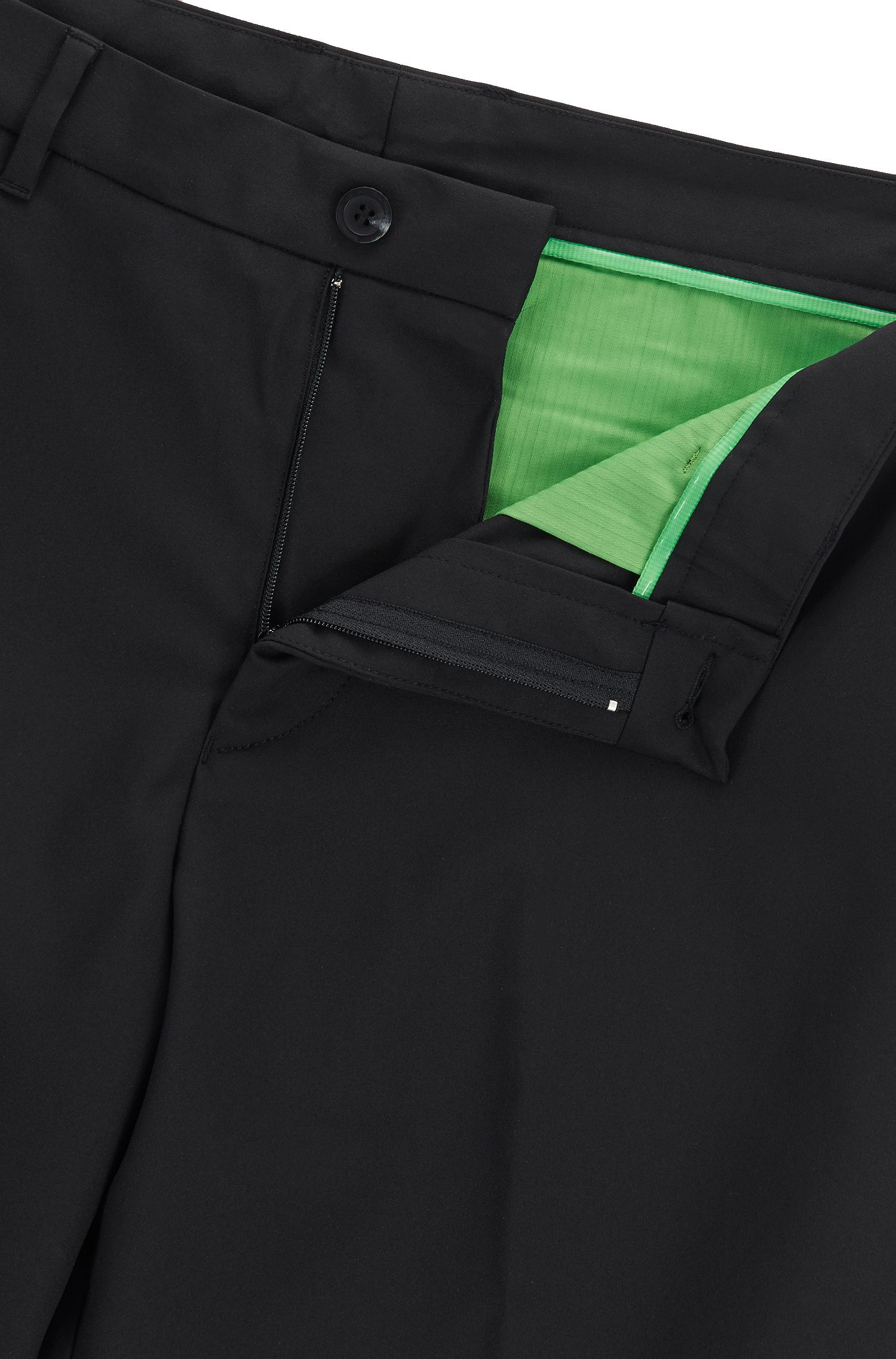 Regular-fit golf shorts in technical twill