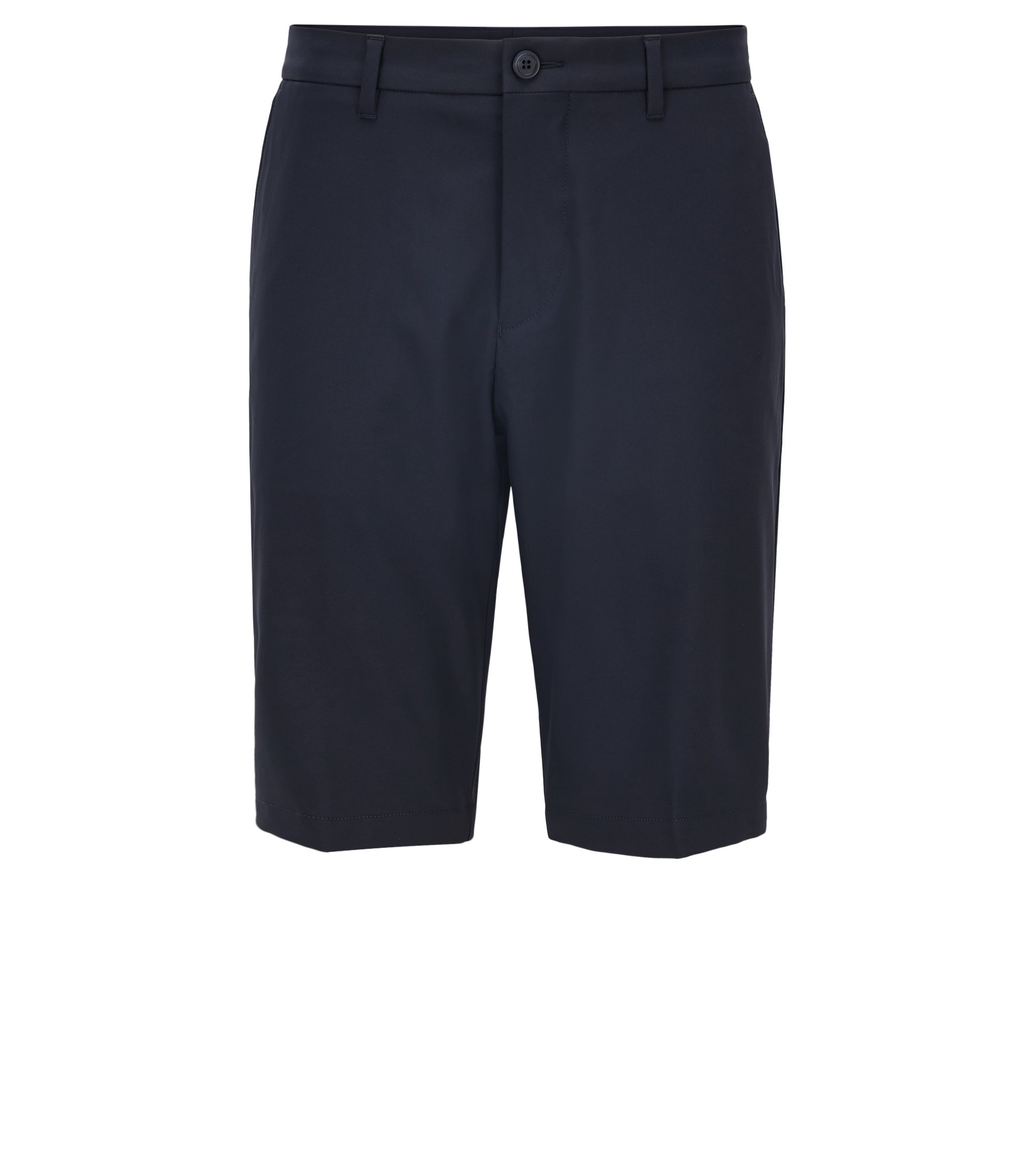Regular-Fit Golfshorts aus Material-Mix, Dunkelblau