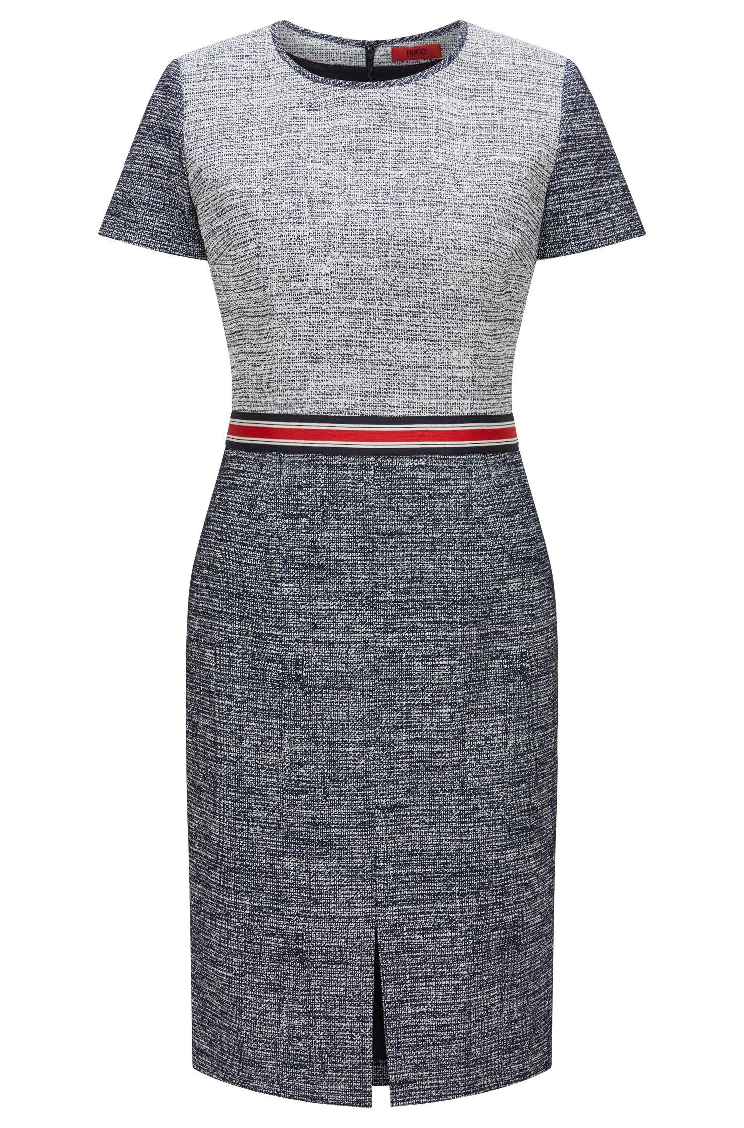Regular-Fit Kleid aus elastischem Baumwoll-Mix