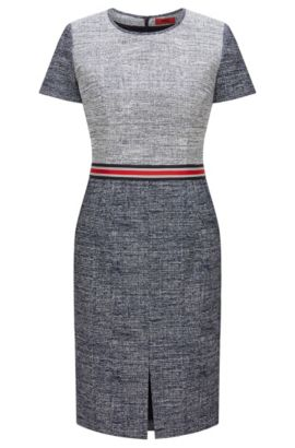 Regular-fit dress in cotton blend , Dark Blue