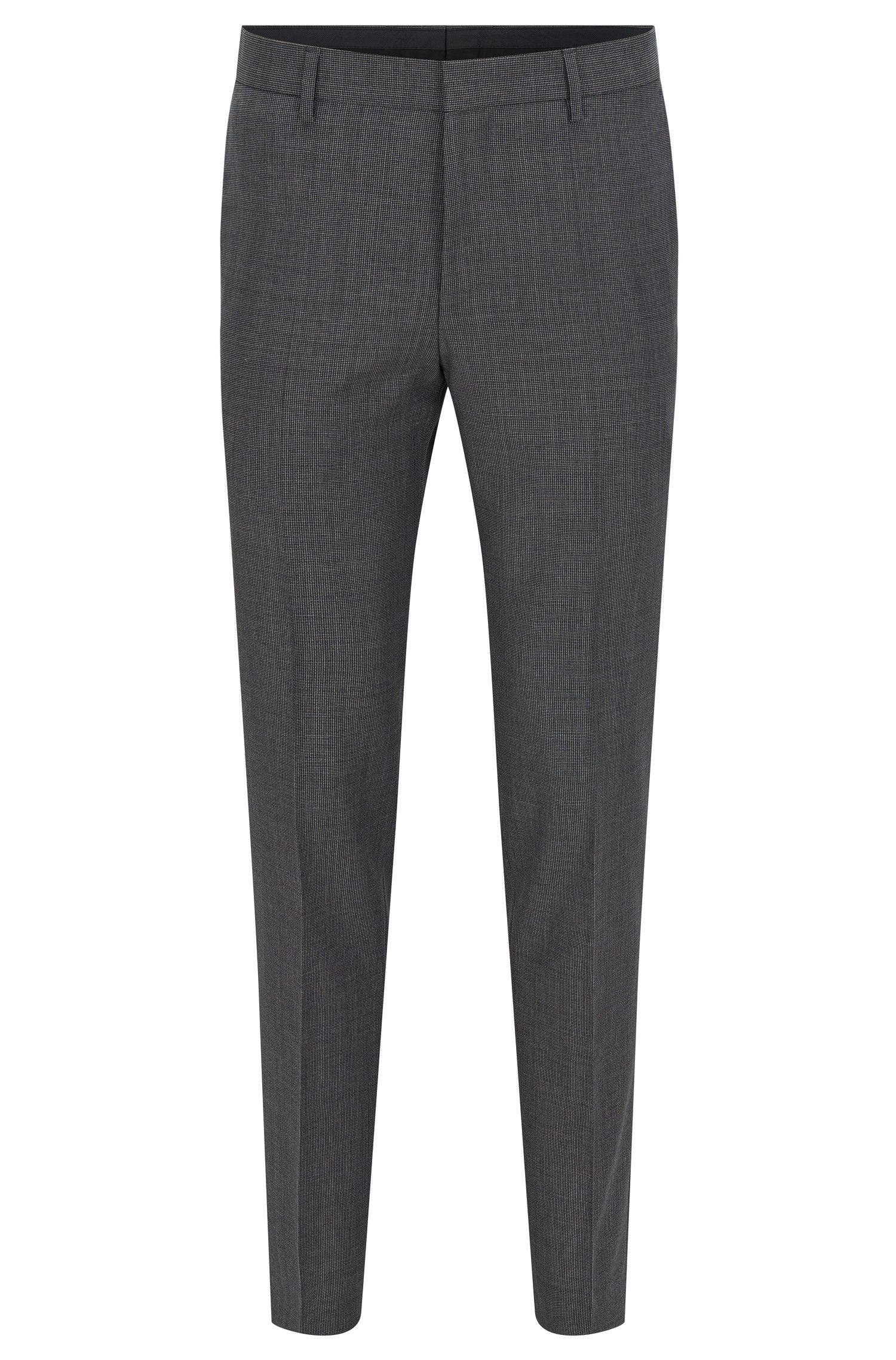 Slim-fit broek van Italiaanse scheerwol