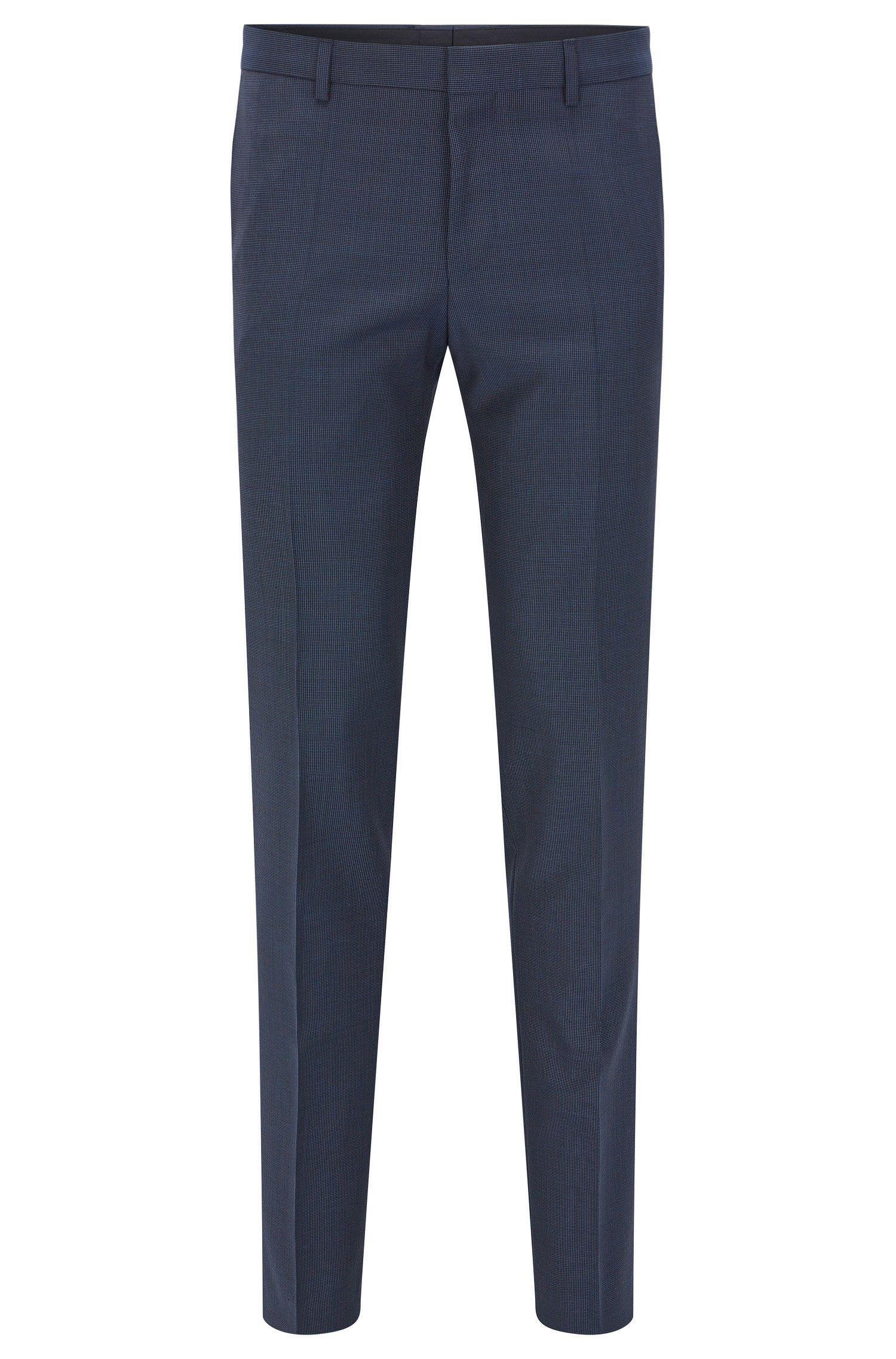 Pantalón slim fit en lana virgen italiana