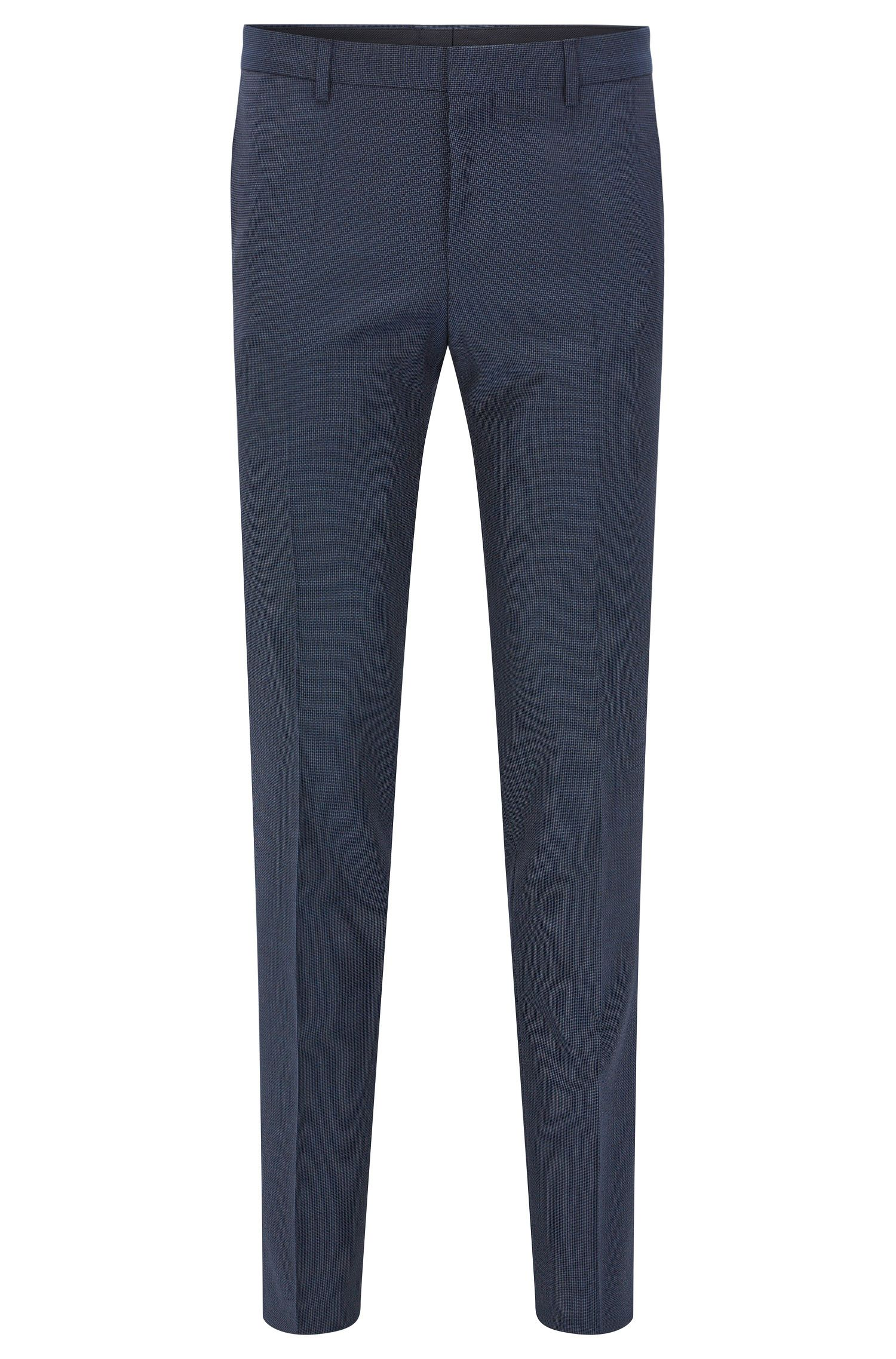 Pantaloni slim fit in lana vergine italiana
